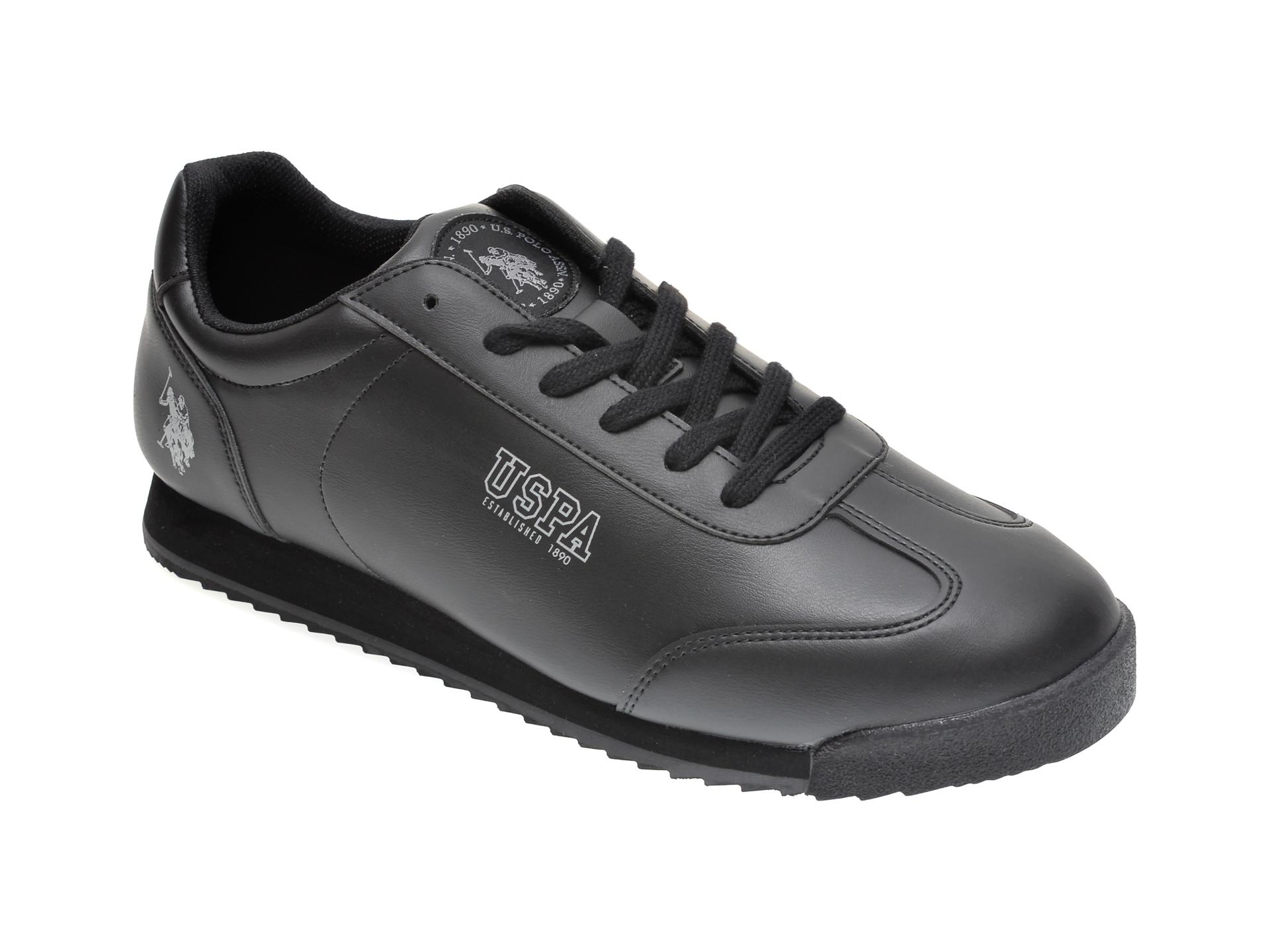 Pantofi sport US POLO ASSN negri, 417834, din piele ecologica imagine