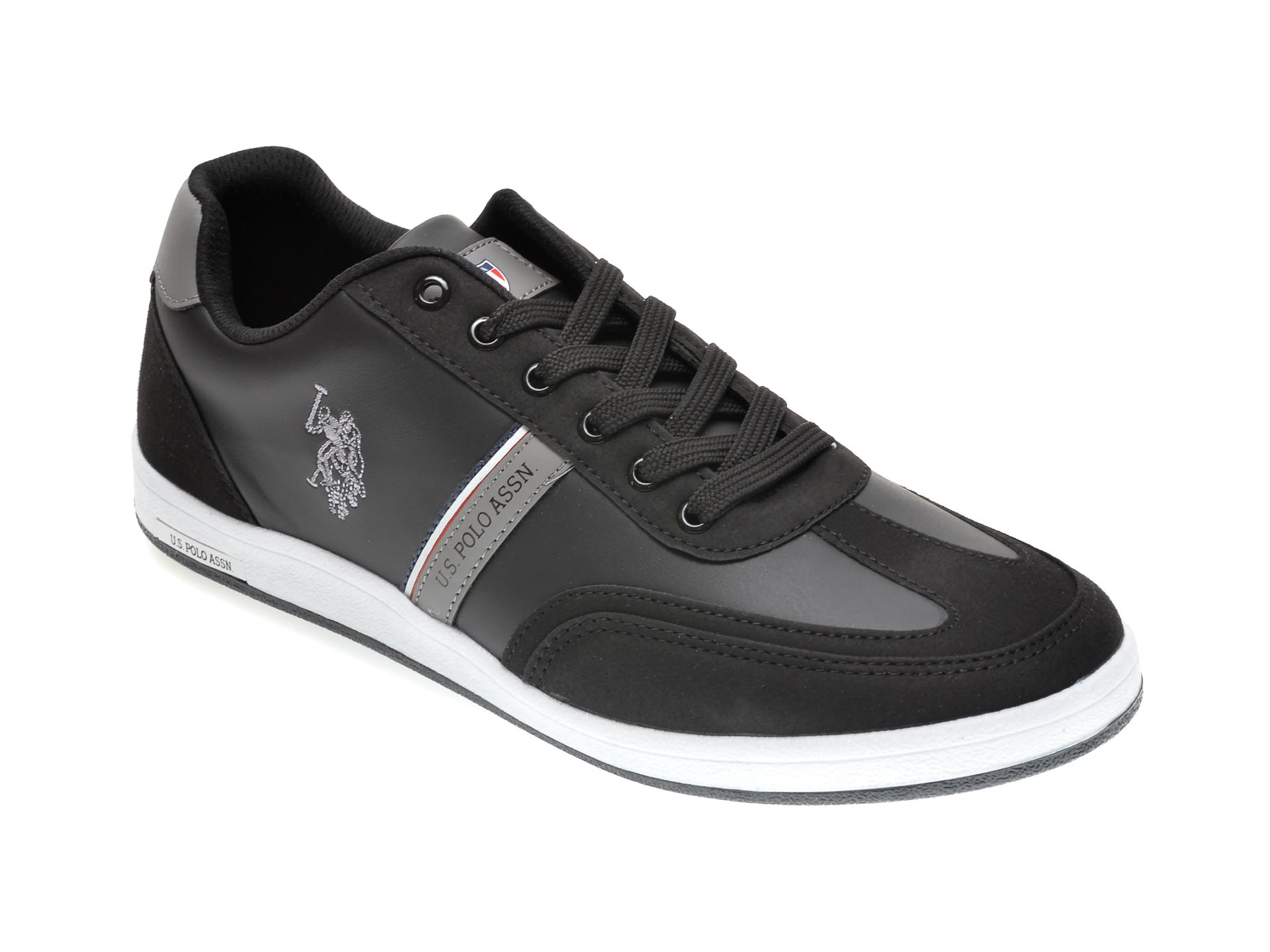 Pantofi sport US POLO ASSN negri, 417978, din piele ecologica imagine