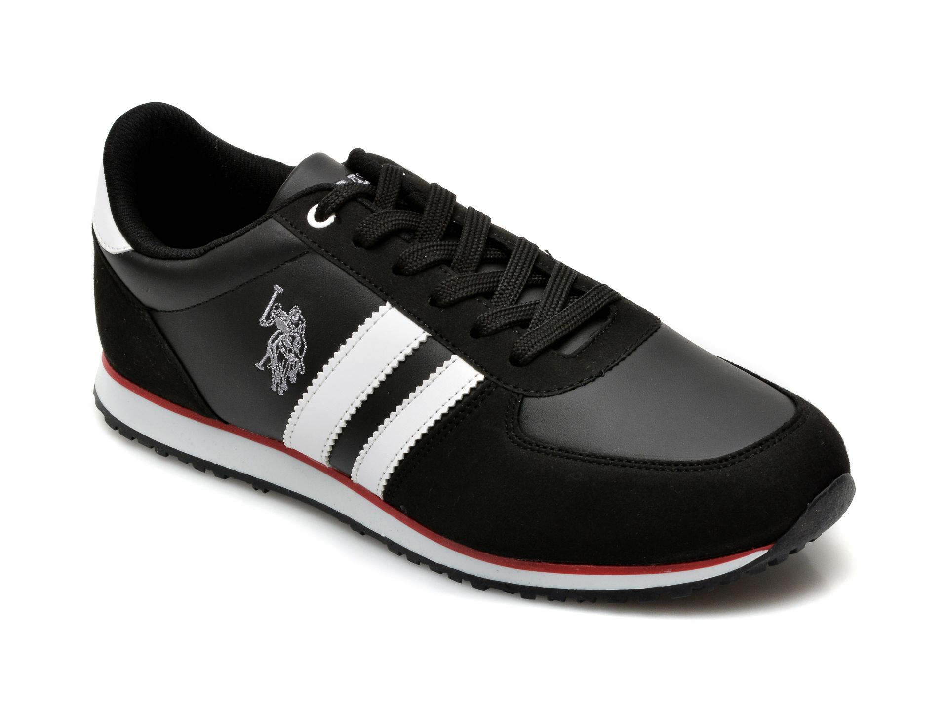 Pantofi sport US POLO ASSN negri, 418098, din piele ecologica imagine