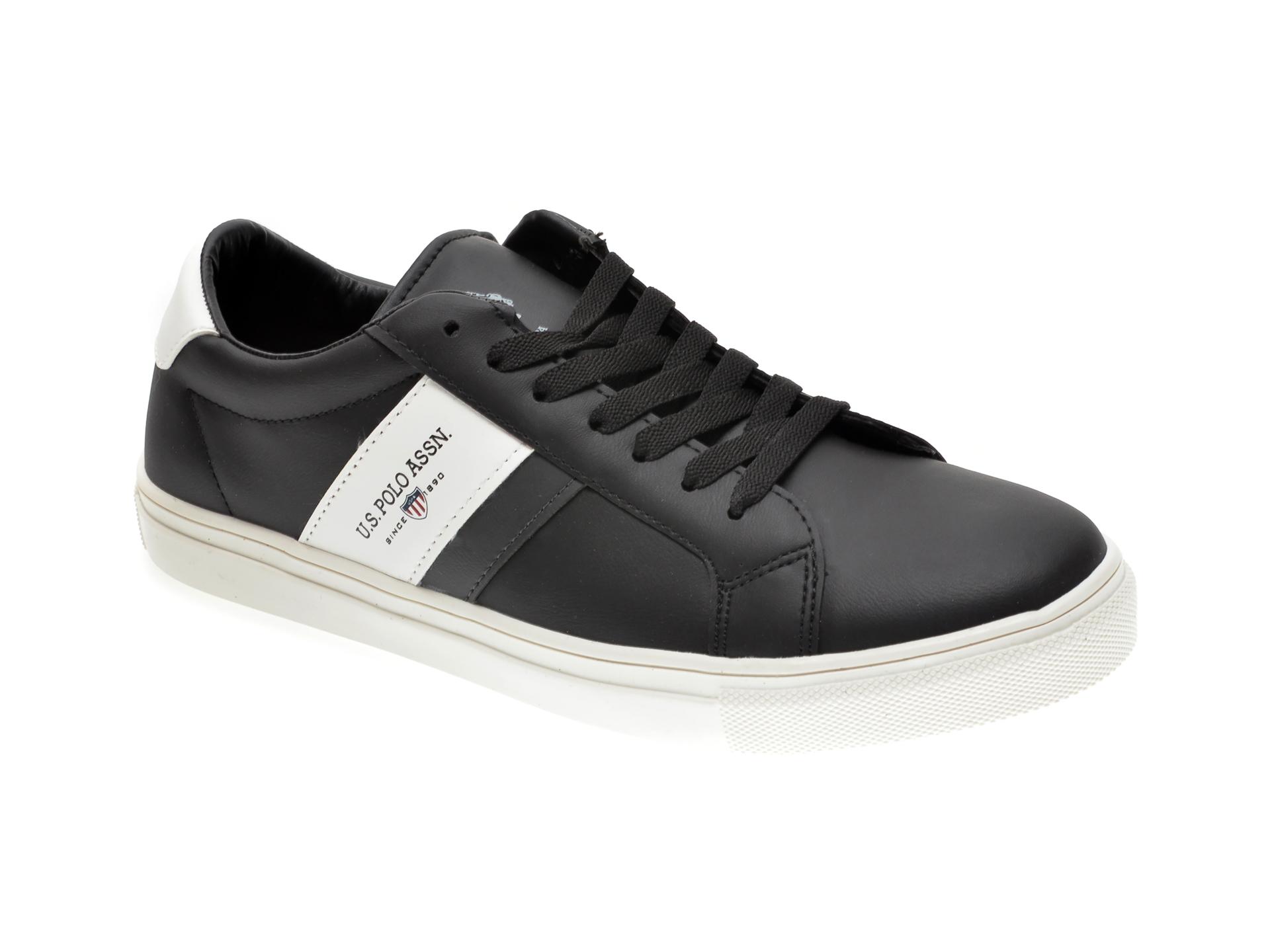 Pantofi sport US POLO ASSN negri, 420359, din piele ecologica imagine