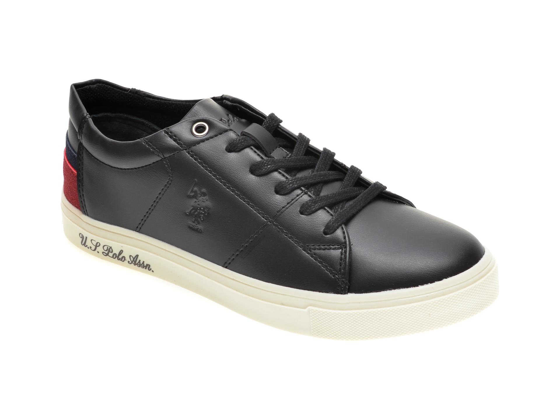 Pantofi sport US POLO ASSN negri, 422447, din piele ecologica imagine