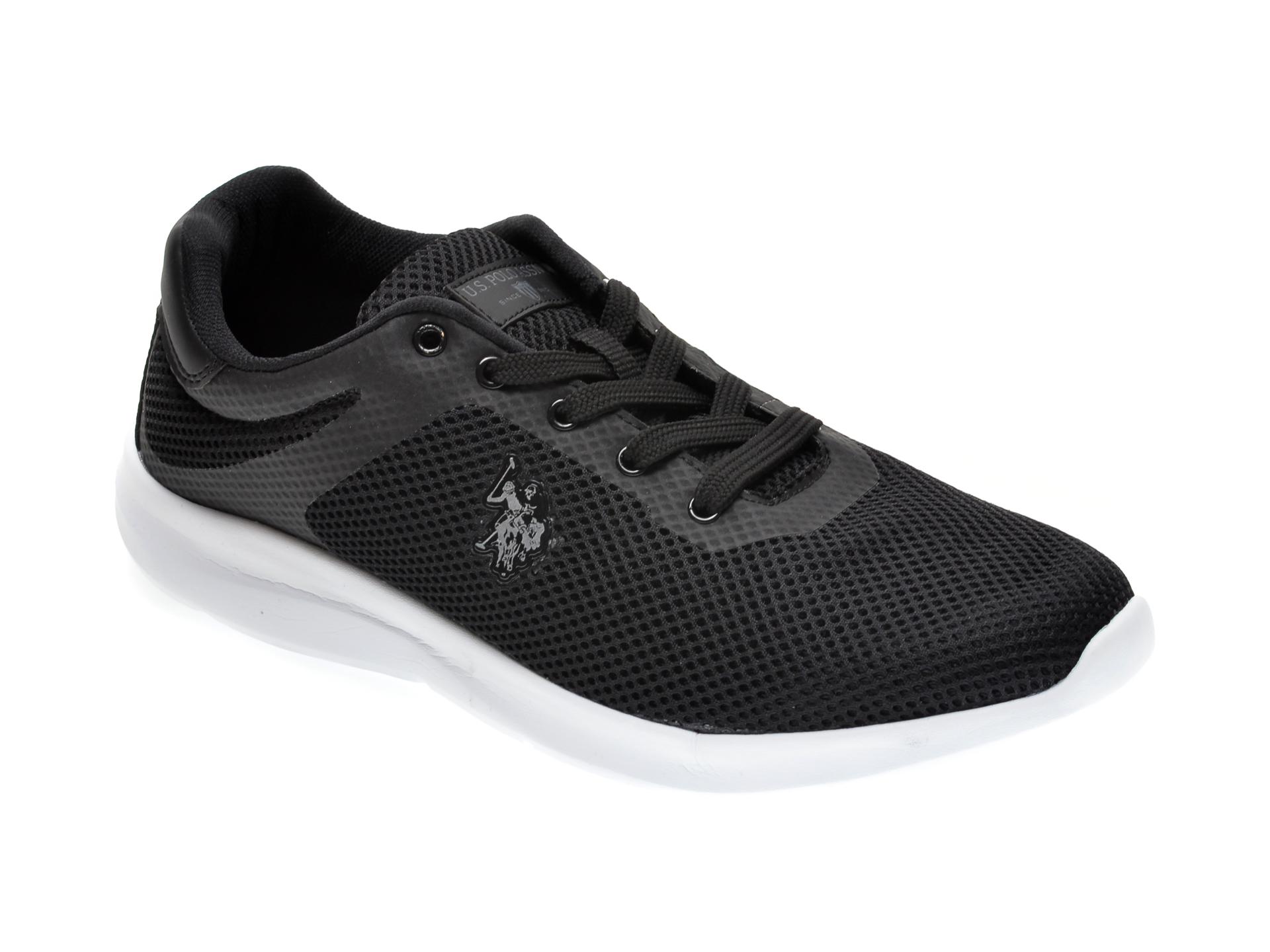 Pantofi sport US POLO ASSN negri, 489494, din piele ecologica imagine