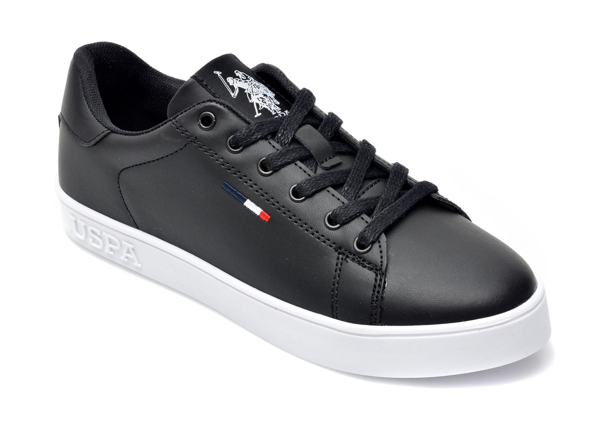 Pantofi sport US POLO ASSN negri, FLEX1FX, din piele ecologica imagine 2021 otter.ro
