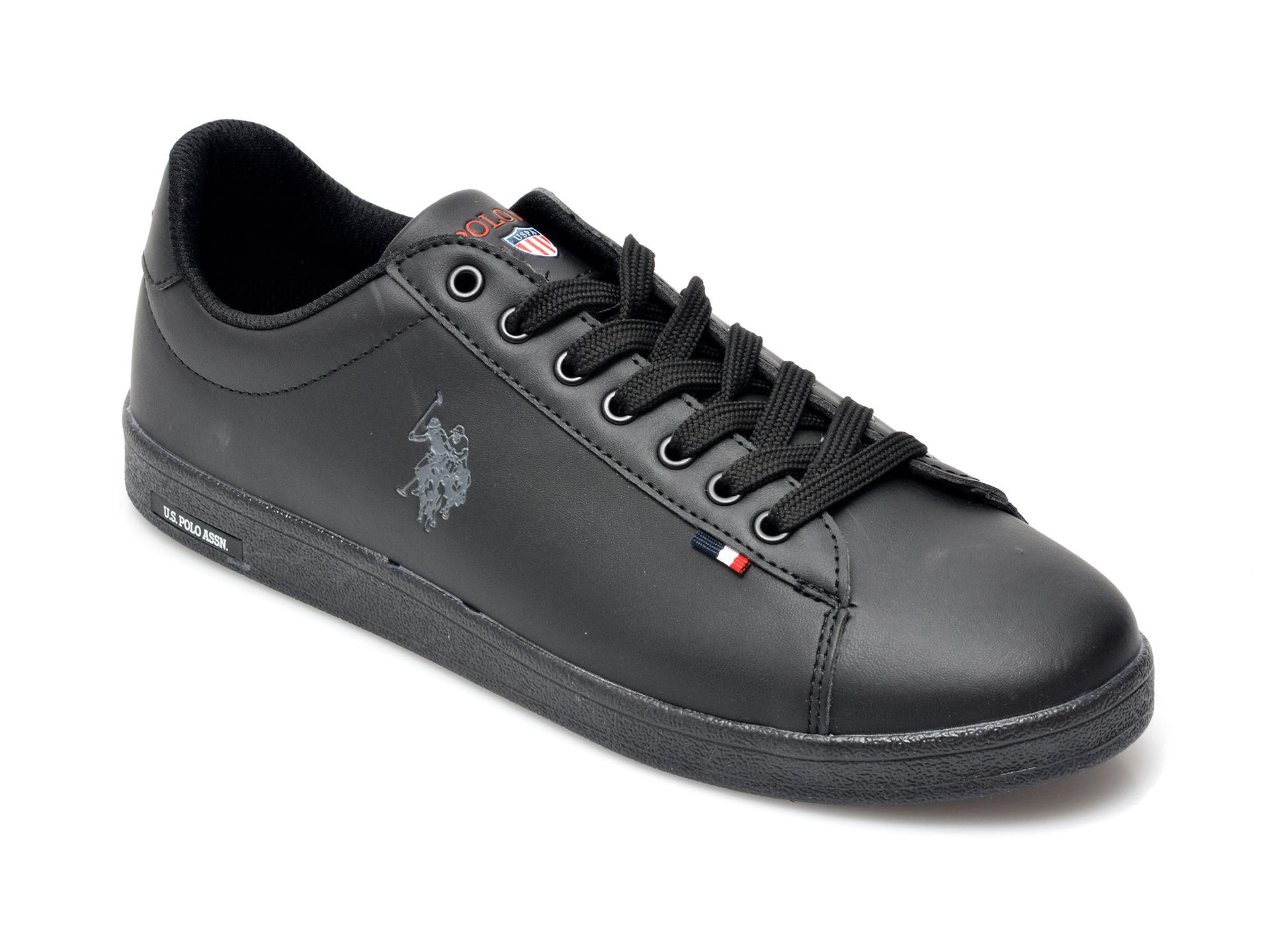Pantofi sport US POLO ASSN negri, FRAN1FX, din piele ecologica imagine otter.ro