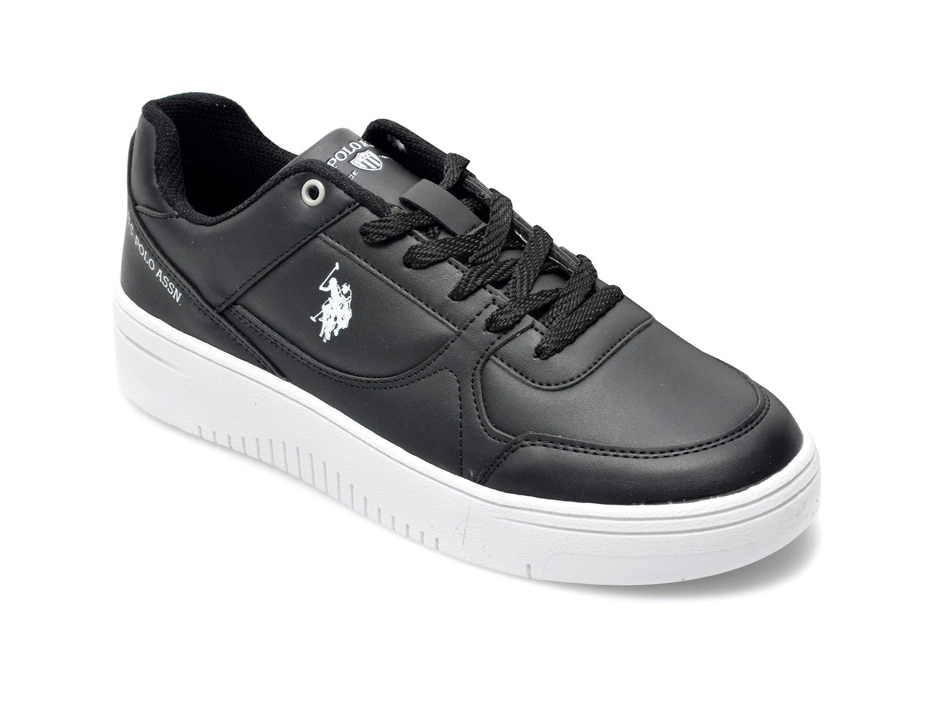 Pantofi sport US POLO ASSN negri, LEEWMN, din piele ecologica