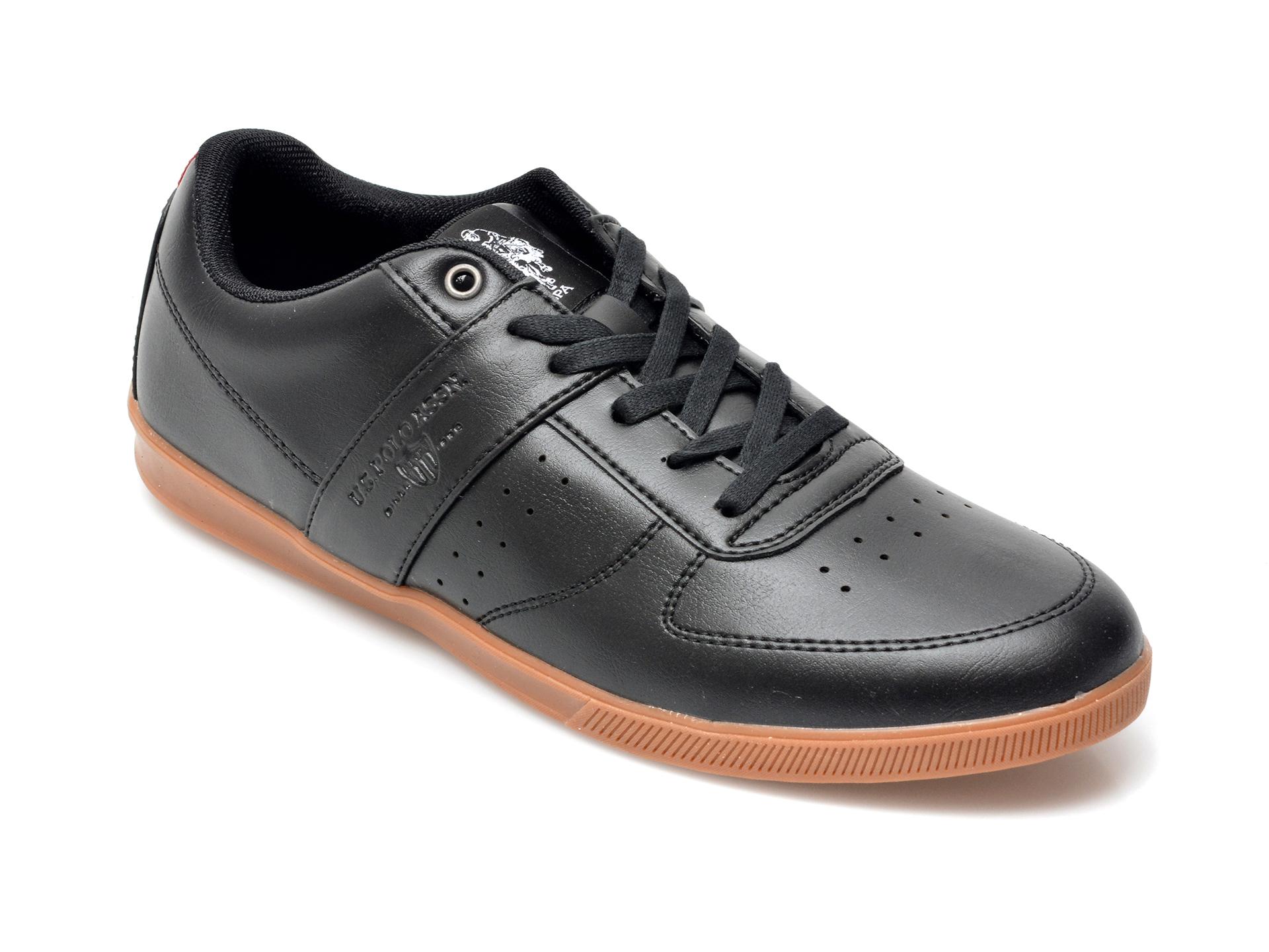 Pantofi sport US POLO ASSN negri, LEGE1FX, din piele ecologica imagine otter.ro