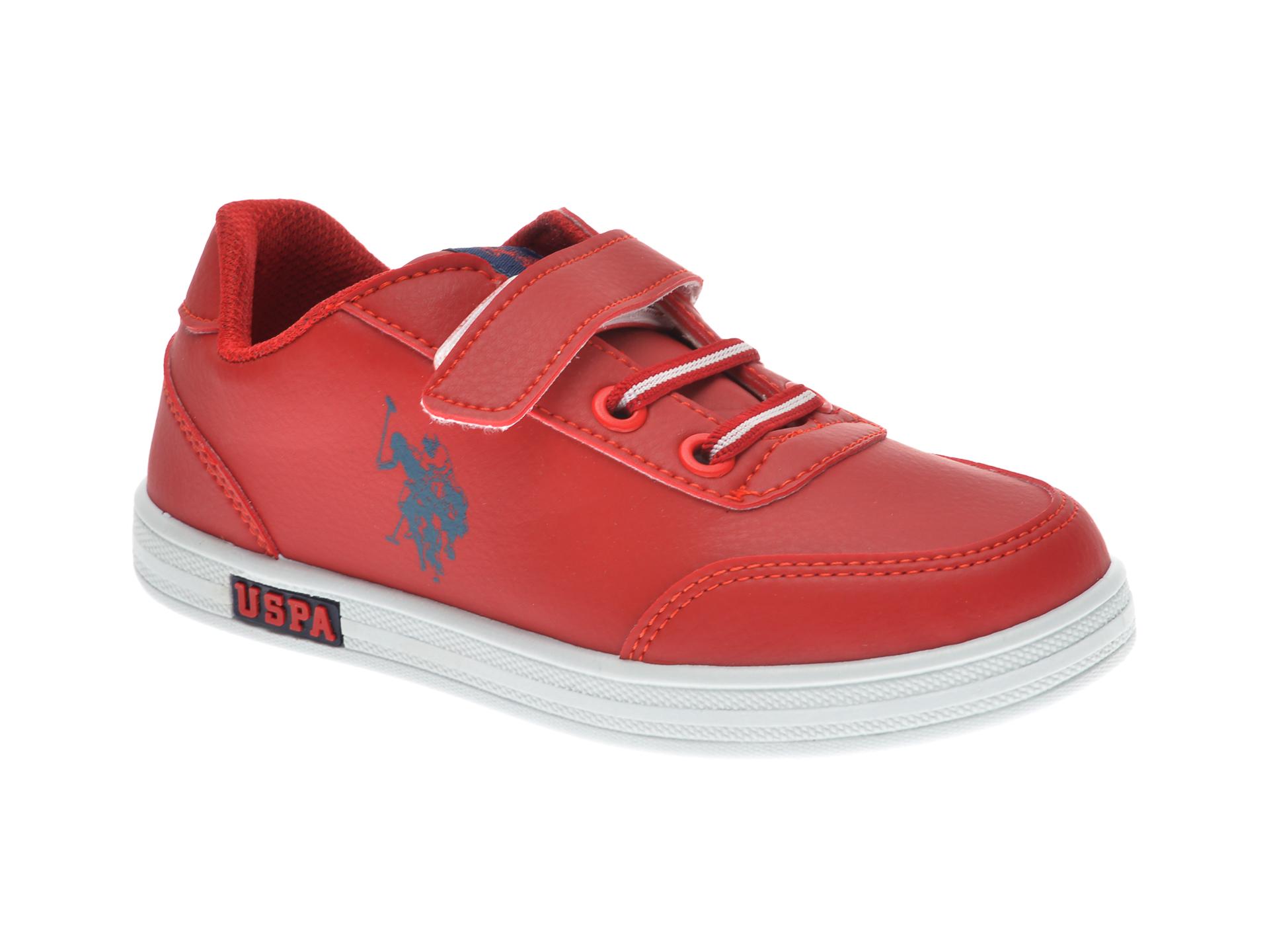Pantofi sport US POLO ASSN rosii, 429457, din piele ecologica imagine
