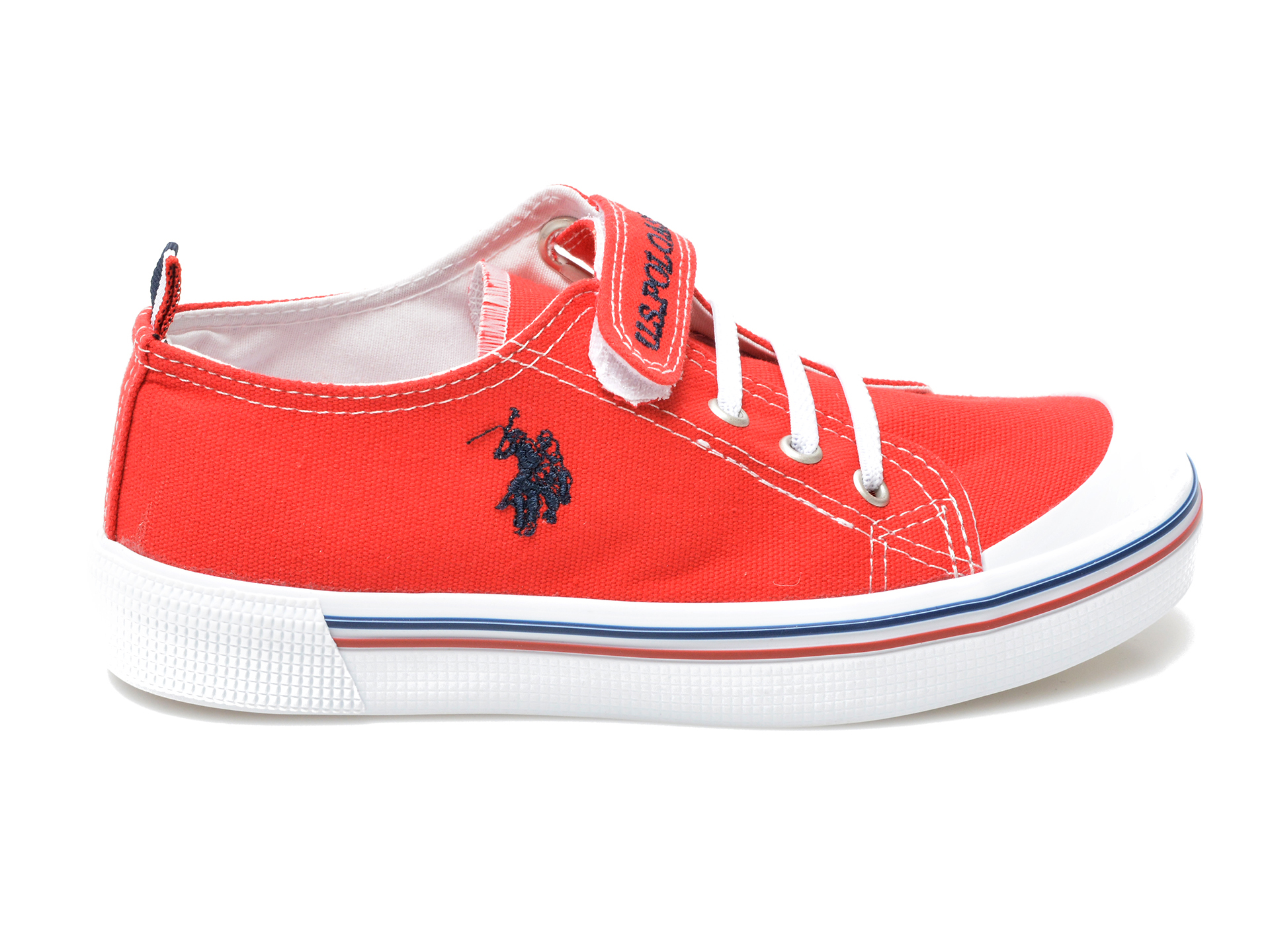 Pantofi sport US POLO ASSN rosii, PENEL1F, din material textil - 1