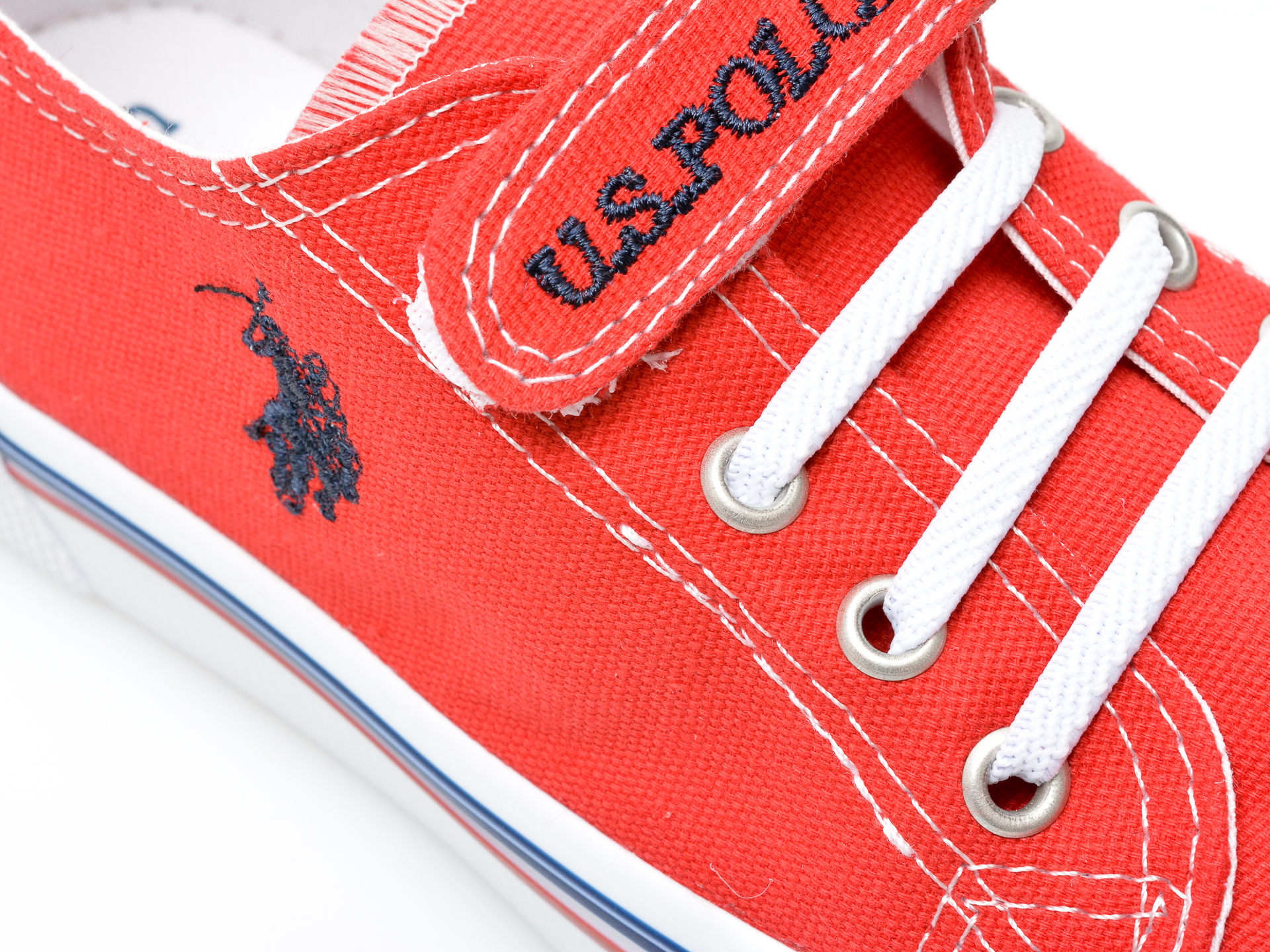 Pantofi sport US POLO ASSN rosii, PENEL1F, din material textil - 2