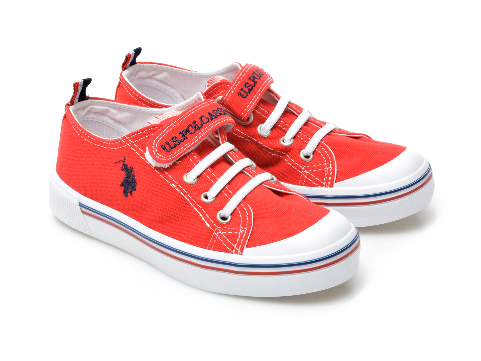 Pantofi sport US POLO ASSN rosii, PENEL1F, din material textil - 4