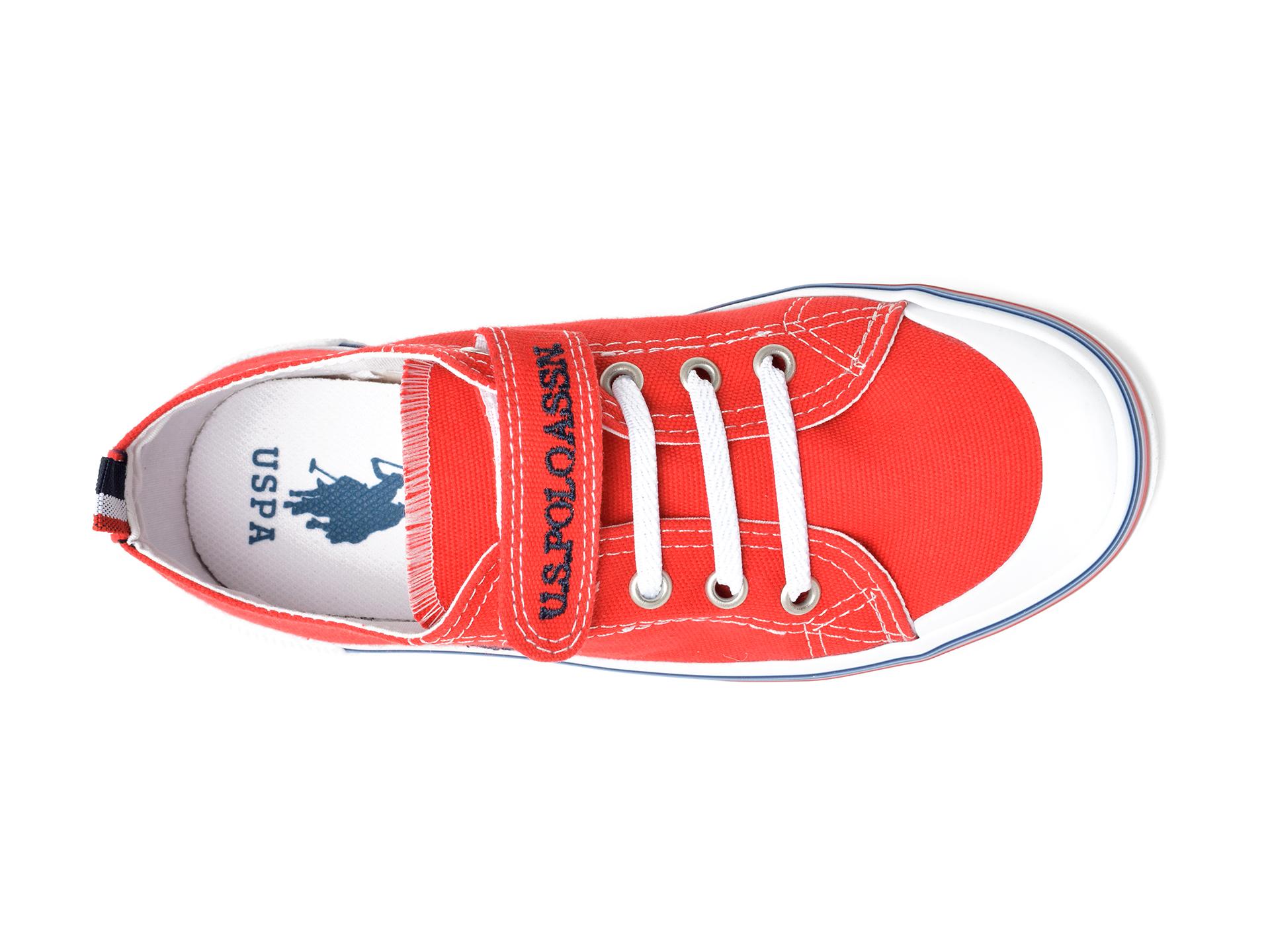 Pantofi sport US POLO ASSN rosii, PENEL1F, din material textil - 7