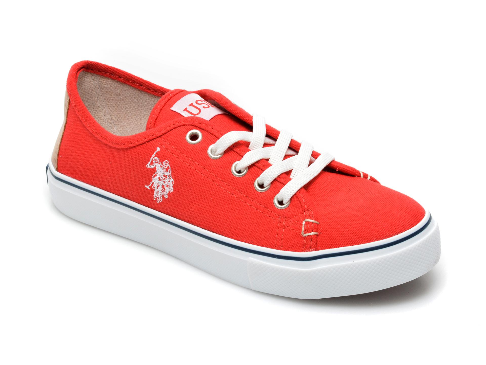 Pantofi sport US POLO ASSN rosii, TOGA1FX, din material textil imagine otter.ro 2021