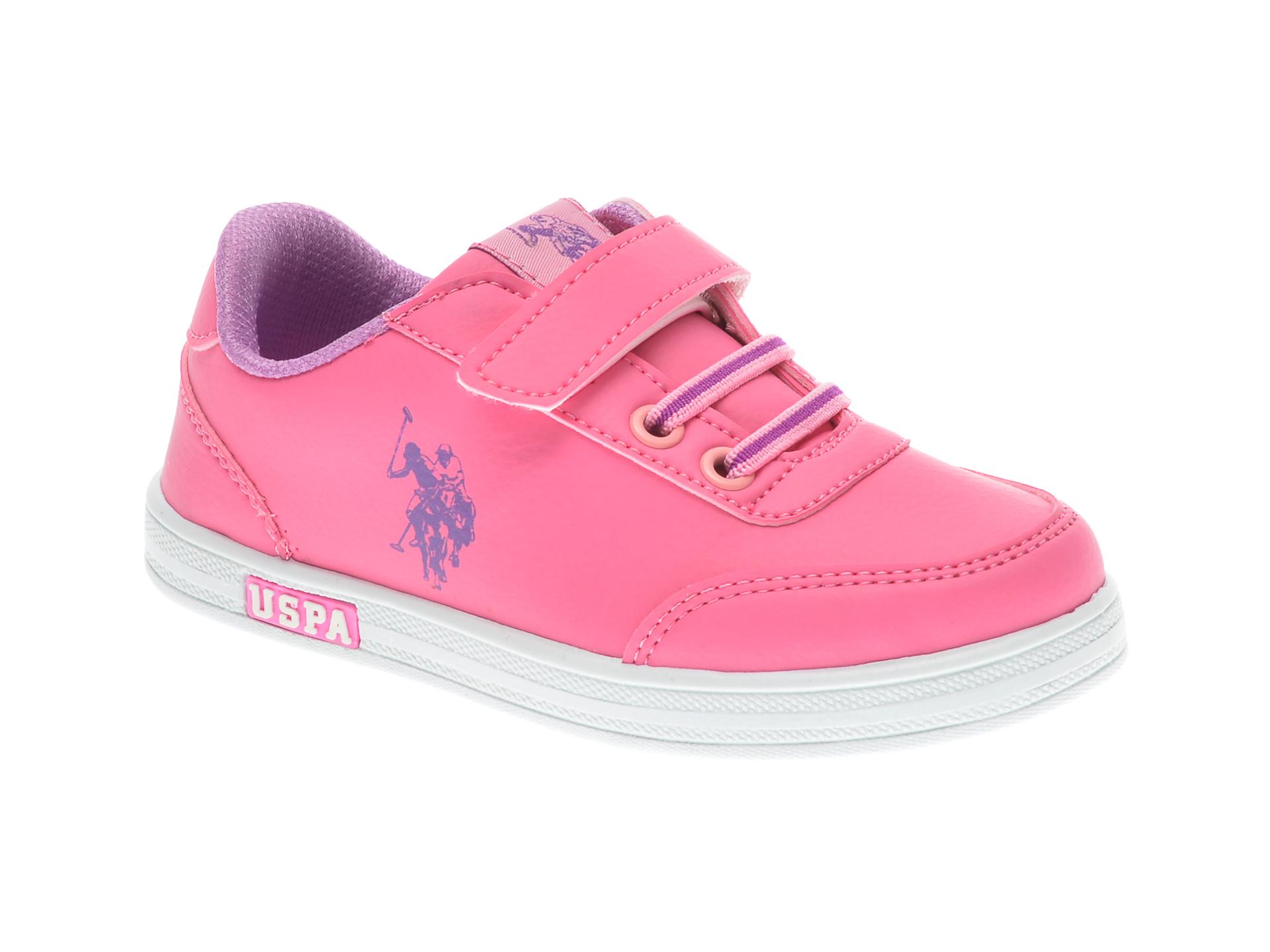 Pantofi sport US POLO ASSN roz, 380403, din piele ecologica imagine