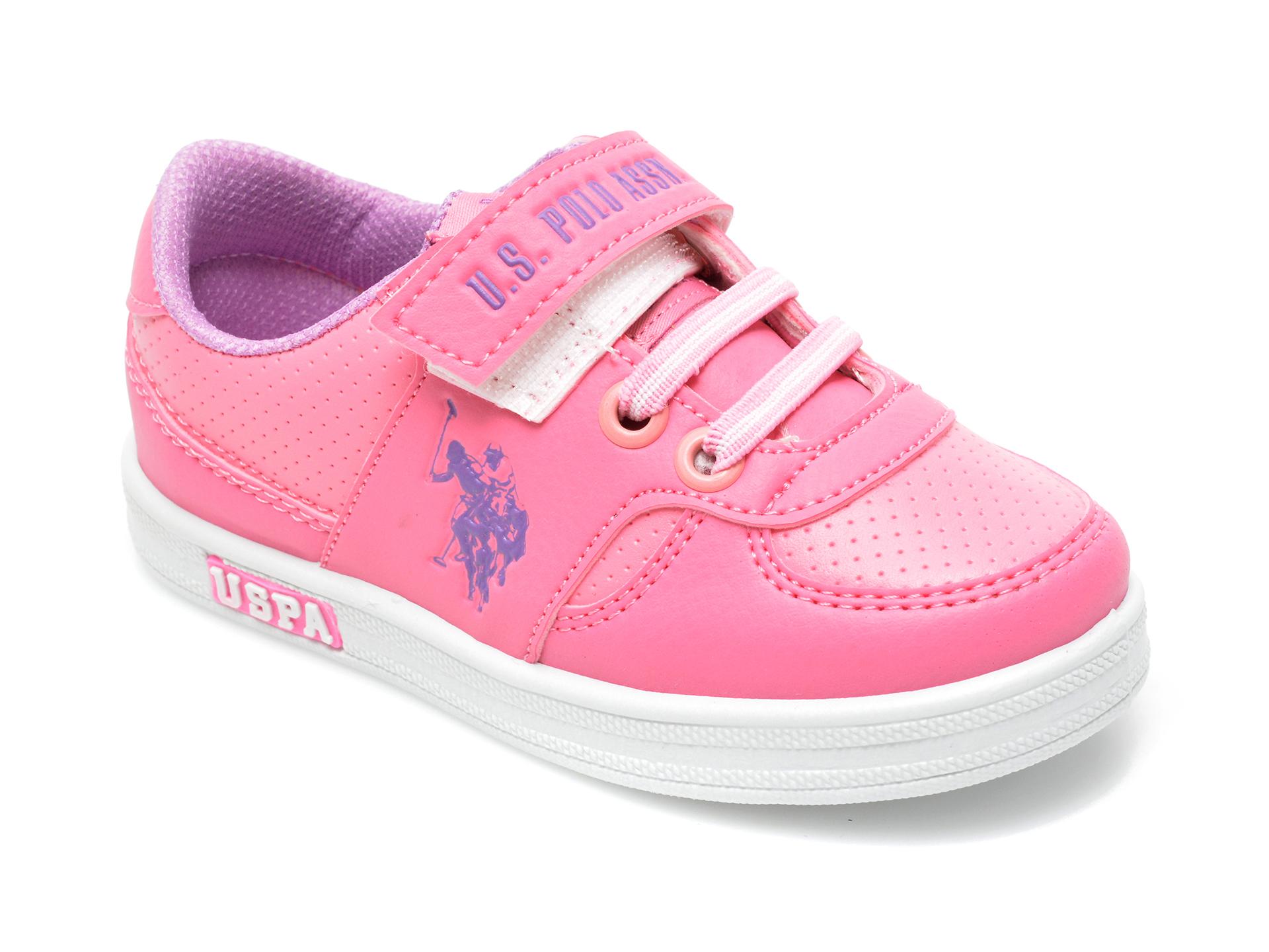 Pantofi sport US POLO ASSN roz, CAME1FX, din piele ecologica