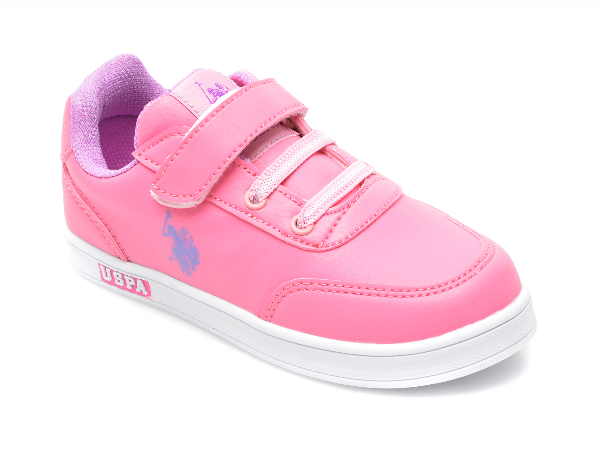 Pantofi sport US POLO ASSN roz, CAMERON WT, din piele ecologica