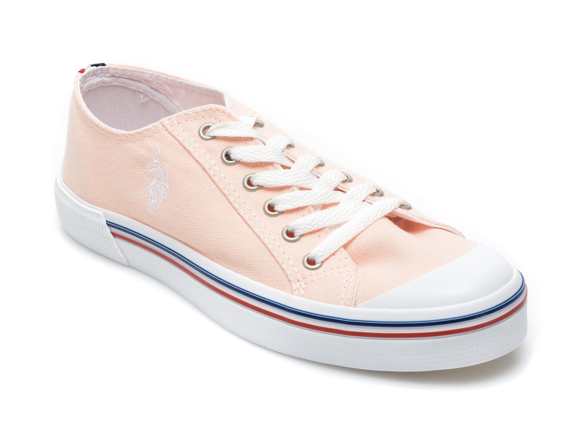 Pantofi sport US POLO ASSN roz, PENE1FX, din material textil imagine otter.ro 2021
