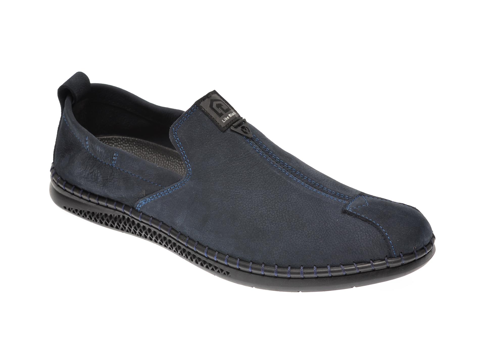 Pantofi STILMAN bleumarin, P072890, din piele intoarsa imagine