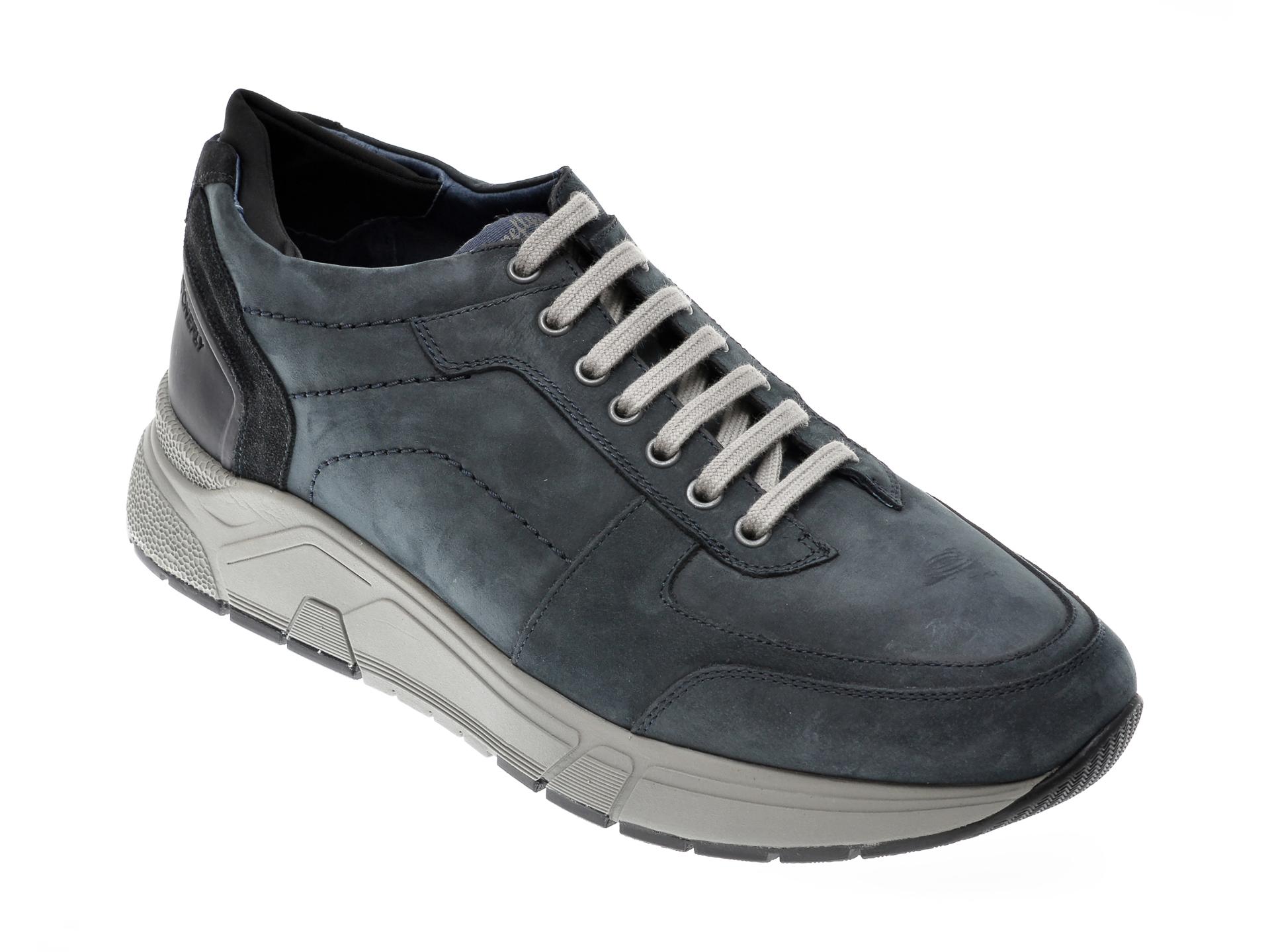 Pantofi STONEFLY bleumarin, ACTION1, din piele intoarsa New