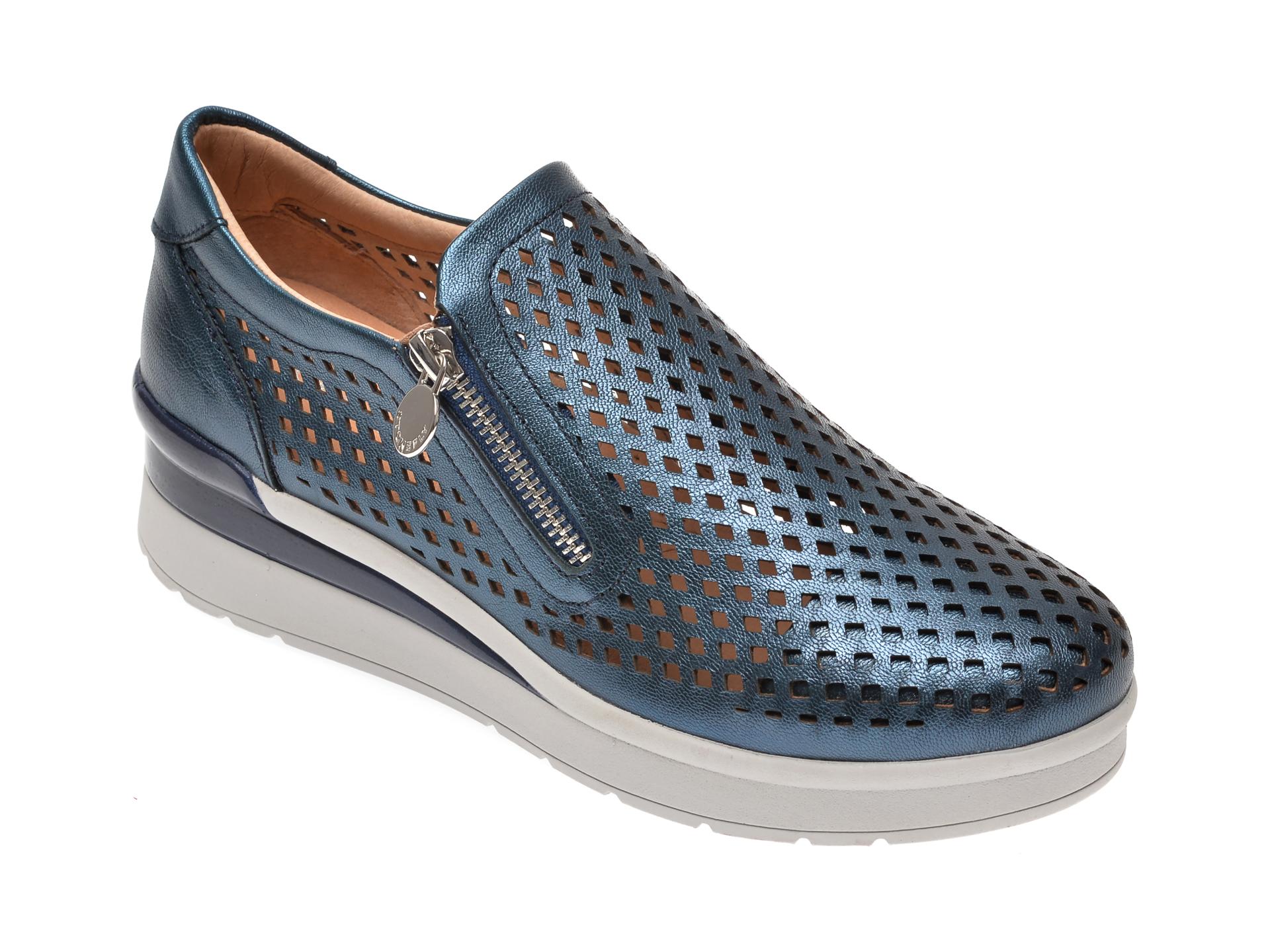 Pantofi STONEFLY bleumarin, CREAM25, din piele naturala