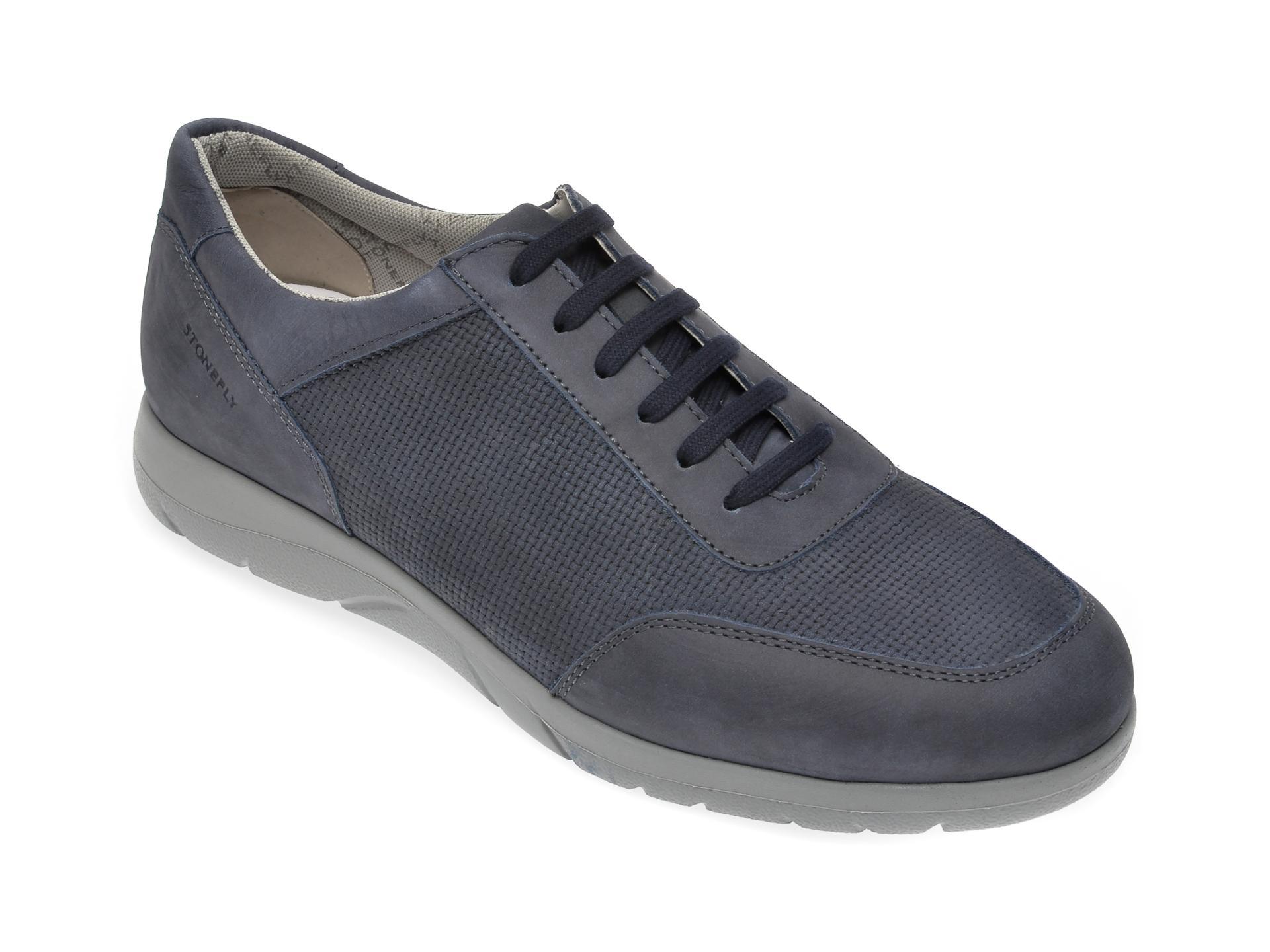 Pantofi STONEFLY bleumarin, SPAMA24, din nabuc imagine