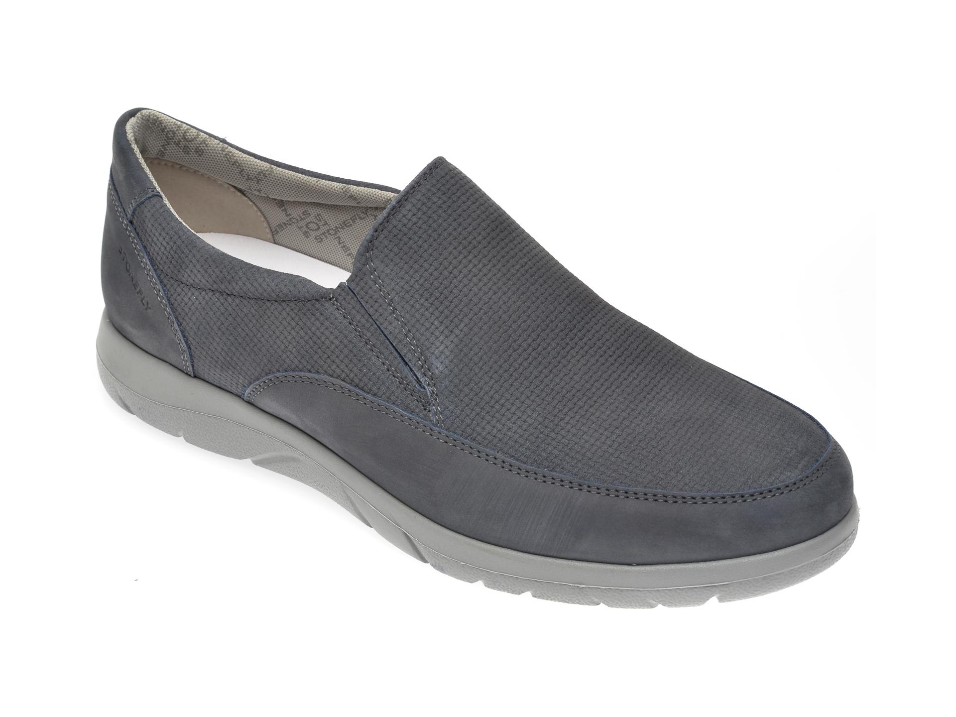 Pantofi STONEFLY bleumarin, SPAMA26, din nabuc New
