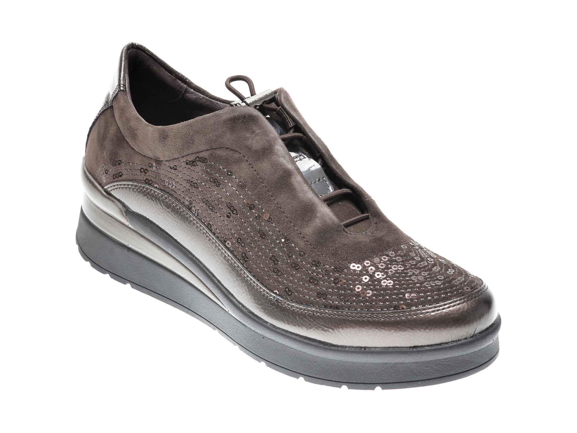 Pantofi STONEFLY maro, CREAM21, din piele intoarsa imagine otter.ro 2021