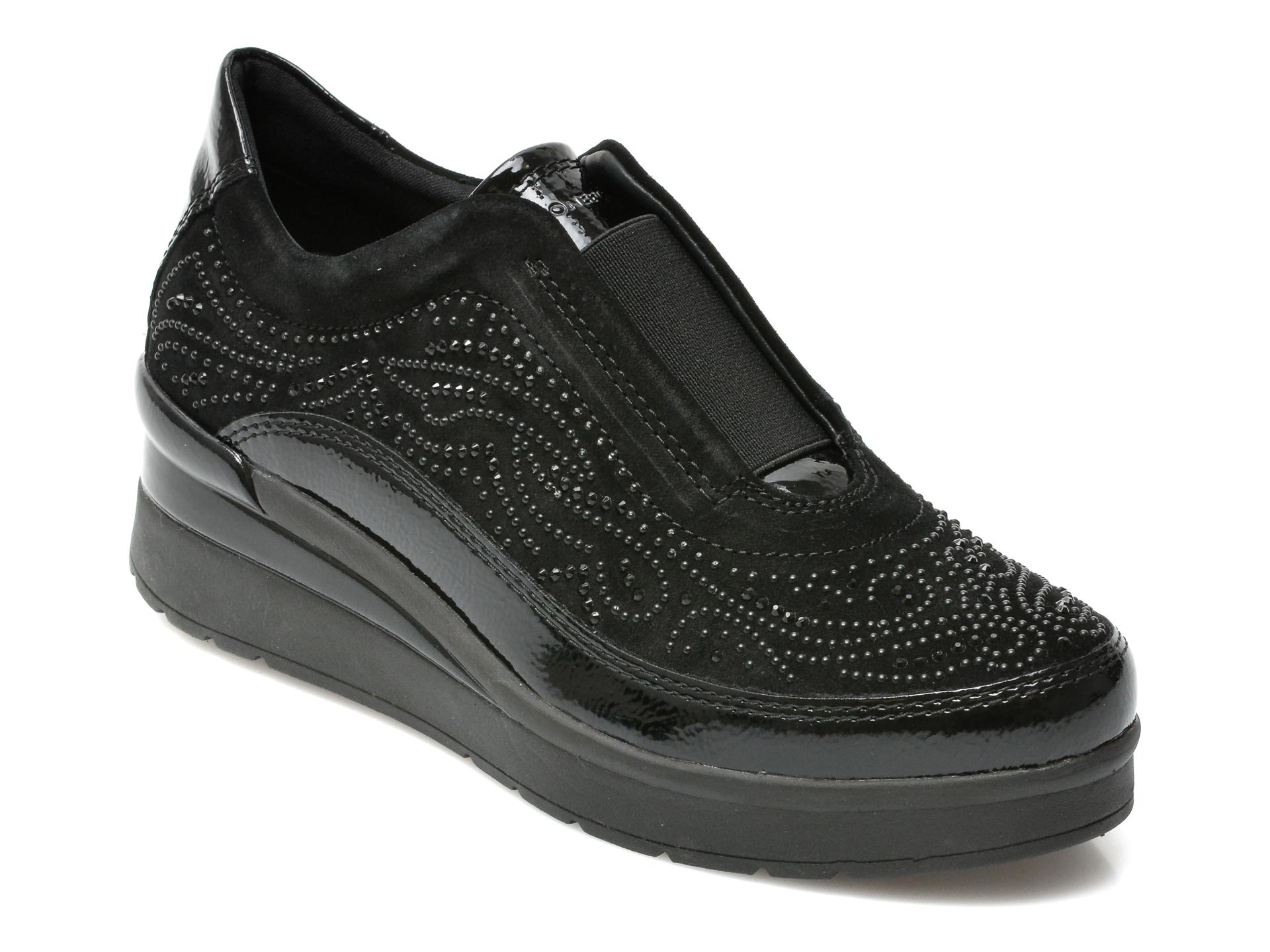 Pantofi STONEFLY negri, CREAM17, din piele naturala