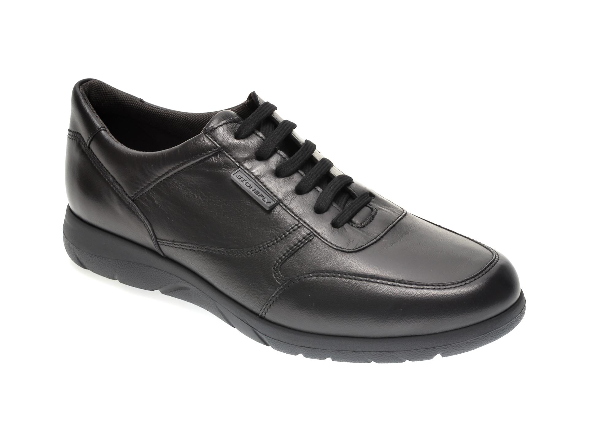 Pantofi STONEFLY negri, SPACMA3, din piele naturala