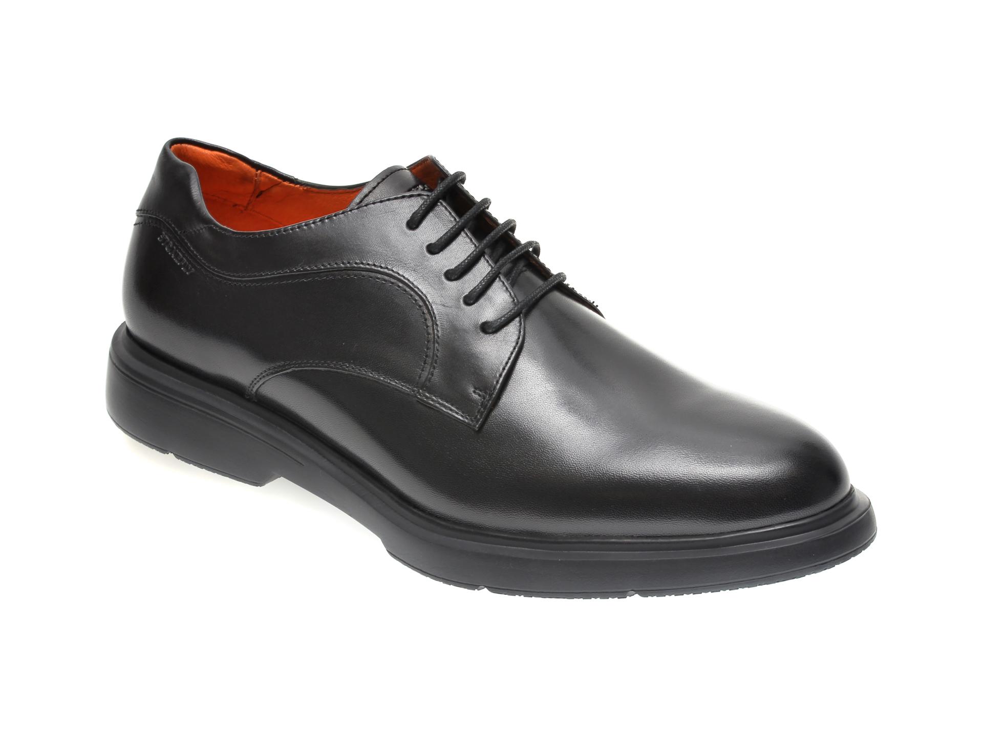 Pantofi STONEFLY negri, TRUMAN1, din piele naturala