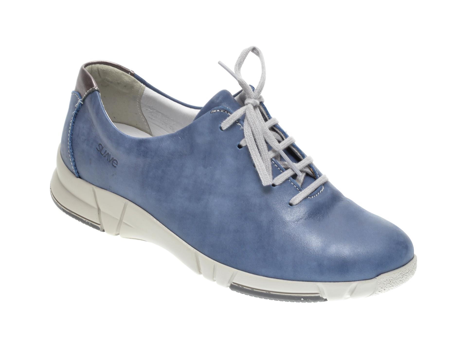 Pantofi SUAVE albastri, 9204, din piele naturala