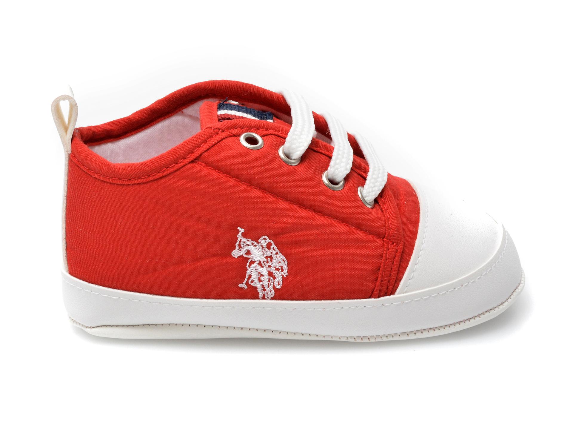 Pantofi US POLO ASSN rosii, MICK1FX, din material textil - 1
