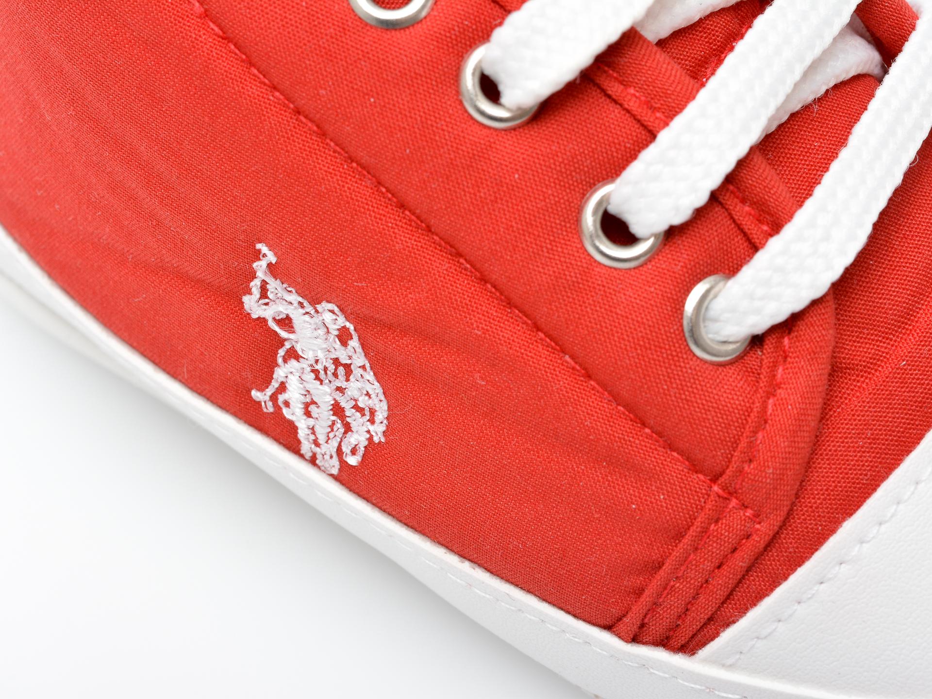 Pantofi US POLO ASSN rosii, MICK1FX, din material textil - 2