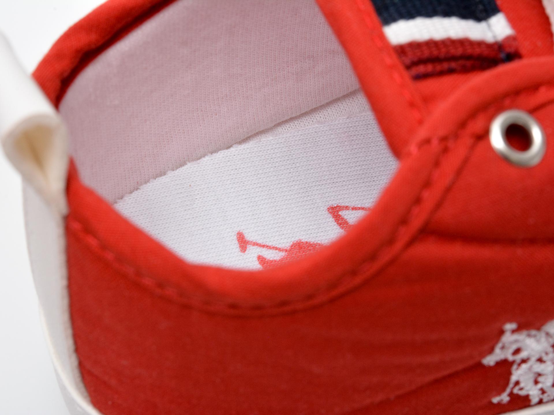 Pantofi US POLO ASSN rosii, MICK1FX, din material textil - 3