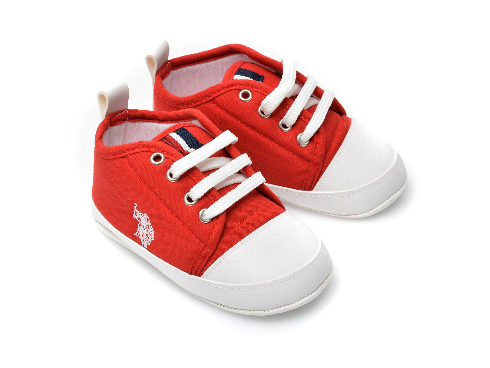 Pantofi US POLO ASSN rosii, MICK1FX, din material textil - 4