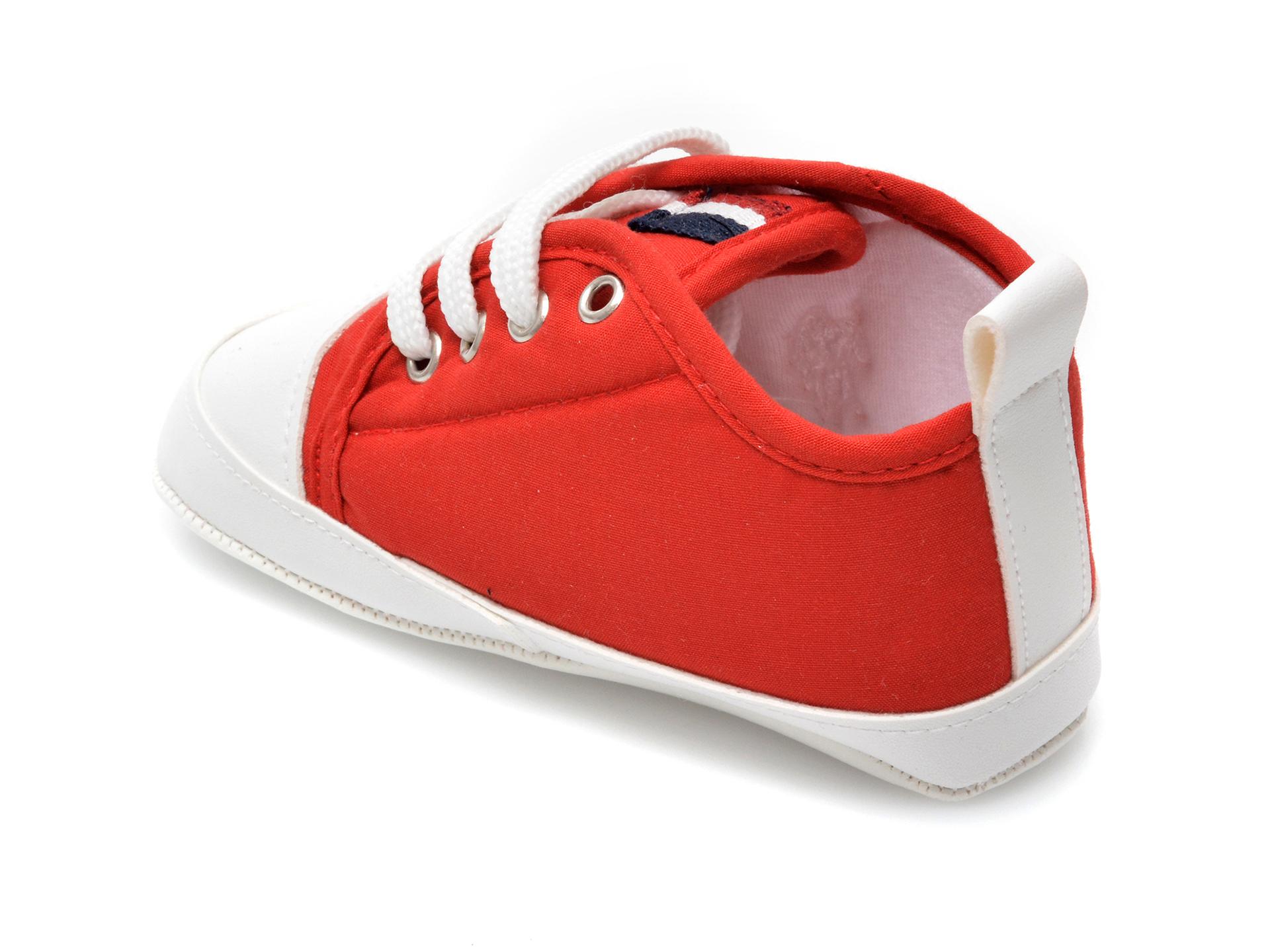 Pantofi US POLO ASSN rosii, MICK1FX, din material textil - 5