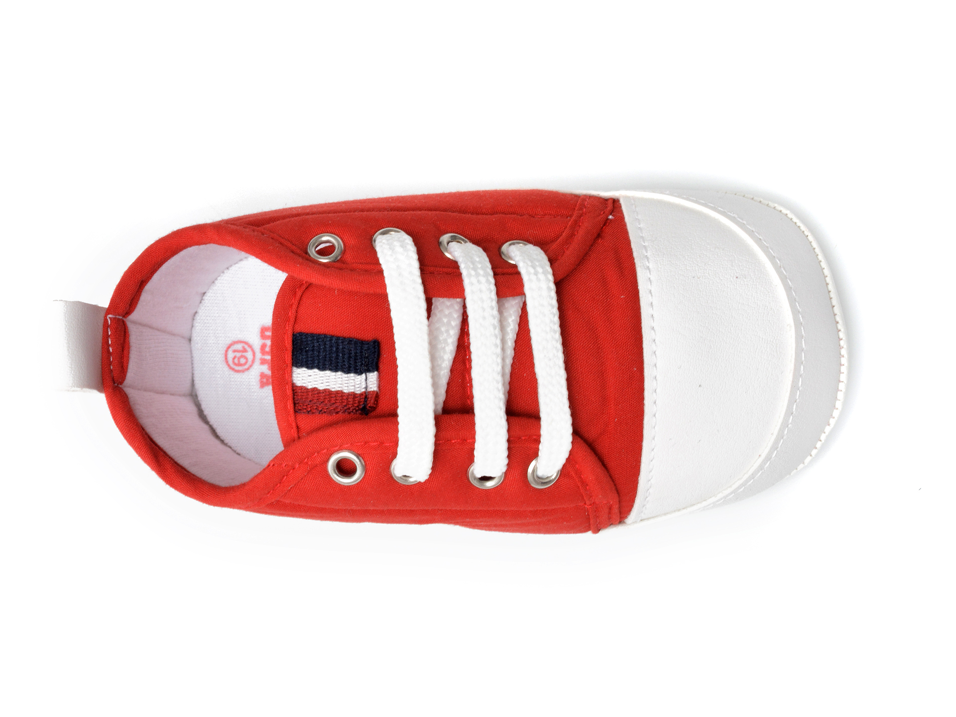 Pantofi US POLO ASSN rosii, MICK1FX, din material textil - 6