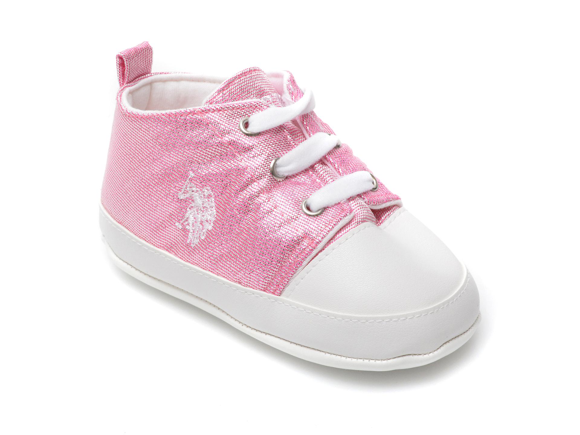 Pantofi US POLO ASSN roz, LICK1FX, din material textil