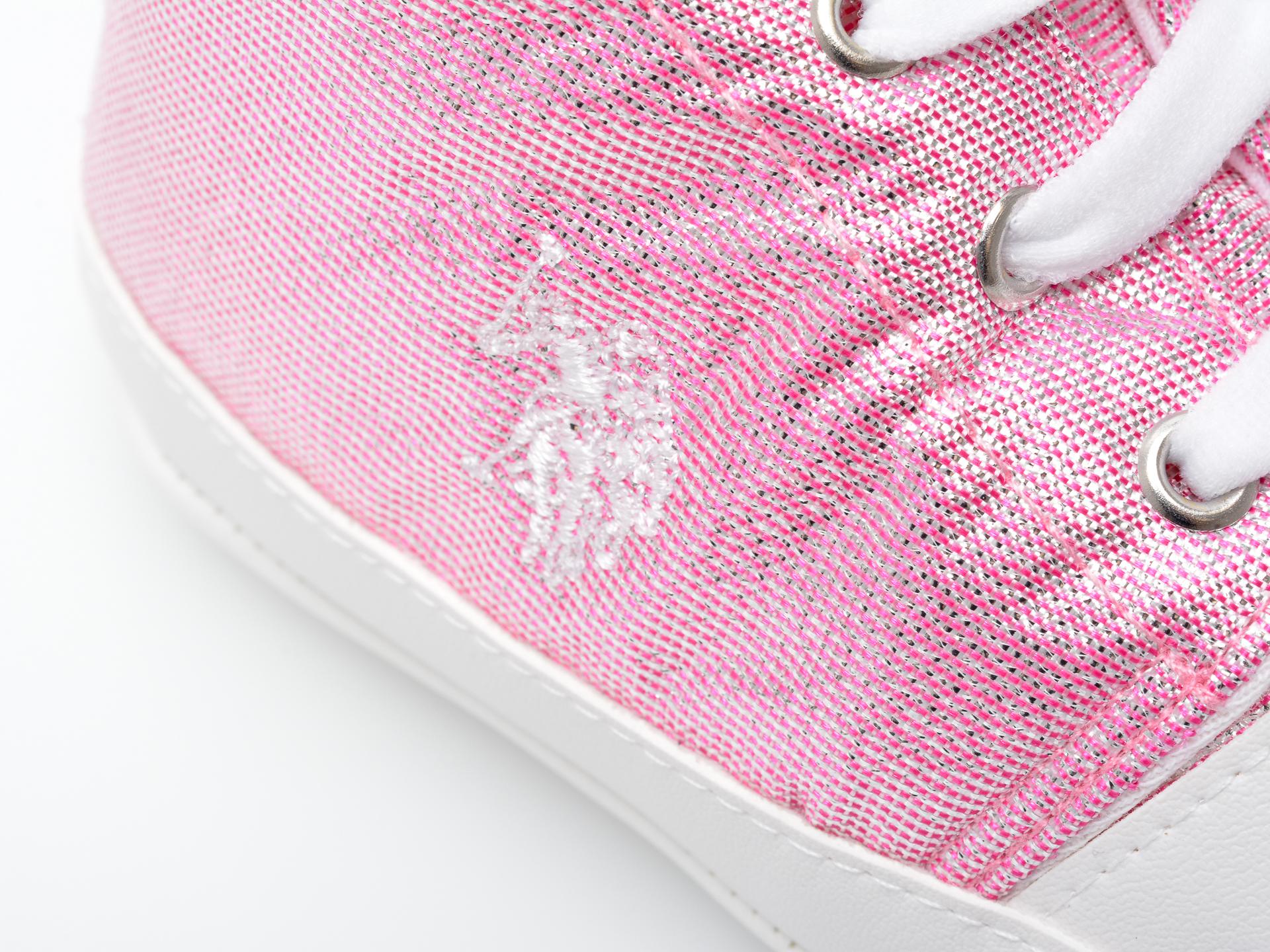 Pantofi US POLO ASSN roz, LICK1FX, din material textil - 2