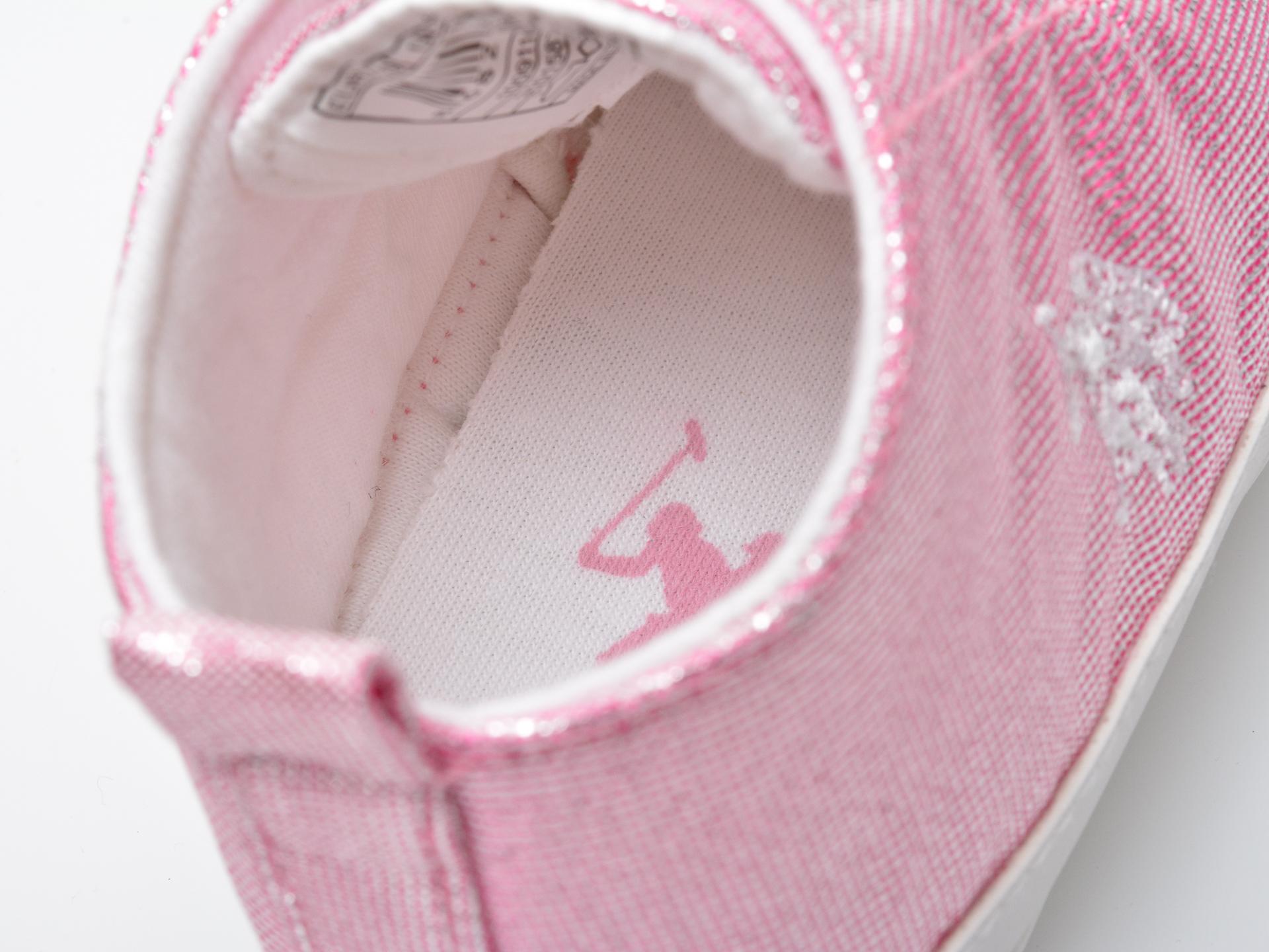 Pantofi US POLO ASSN roz, LICK1FX, din material textil - 3
