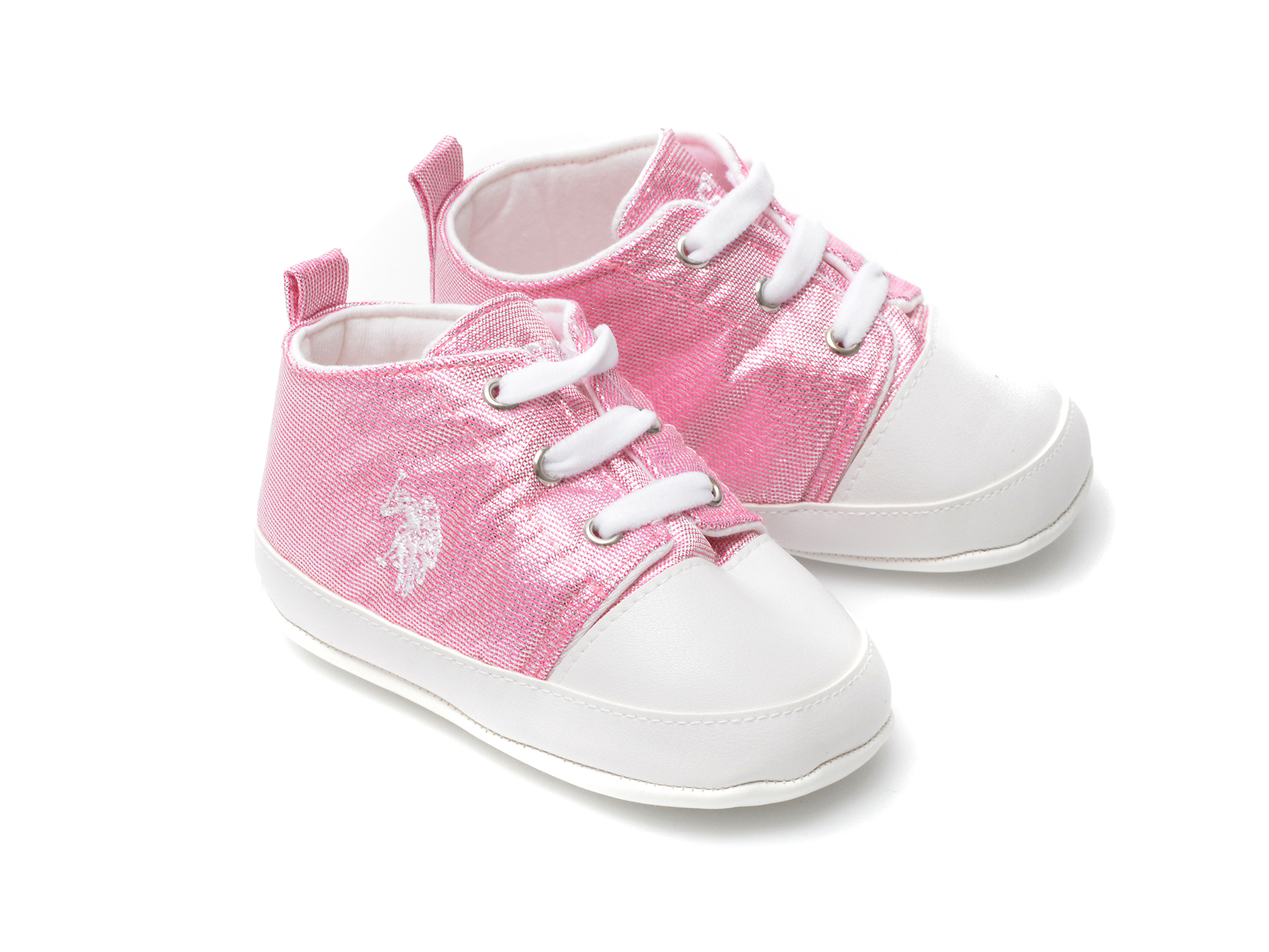 Pantofi US POLO ASSN roz, LICK1FX, din material textil - 4