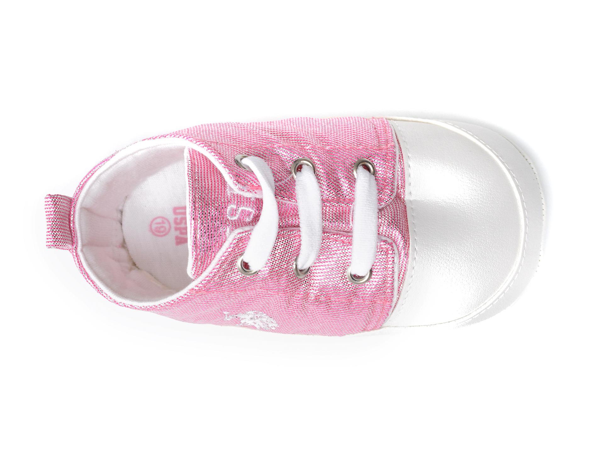 Pantofi US POLO ASSN roz, LICK1FX, din material textil - 6
