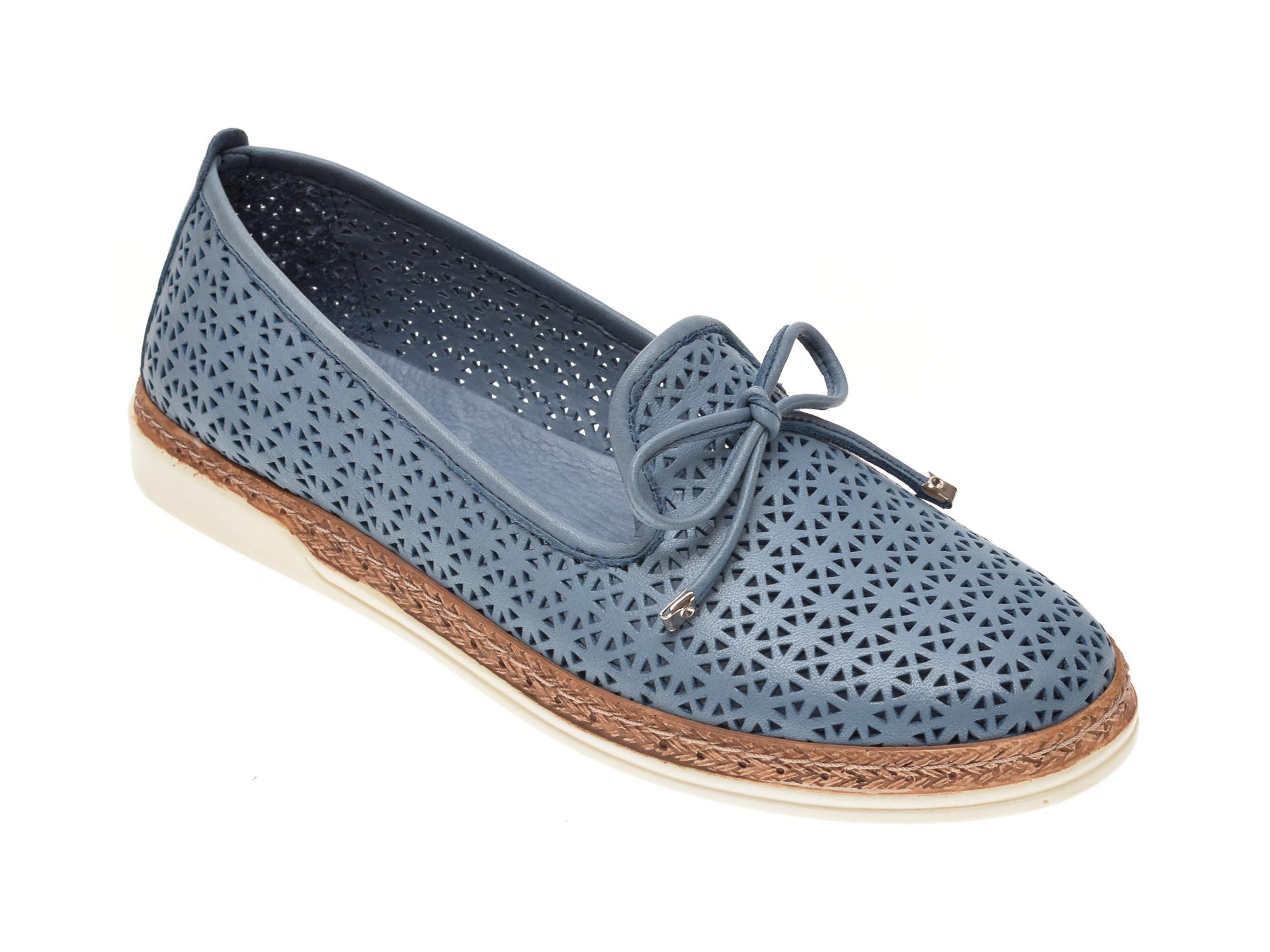 Pantofi X TREND albastri, 619, din piele naturala imagine