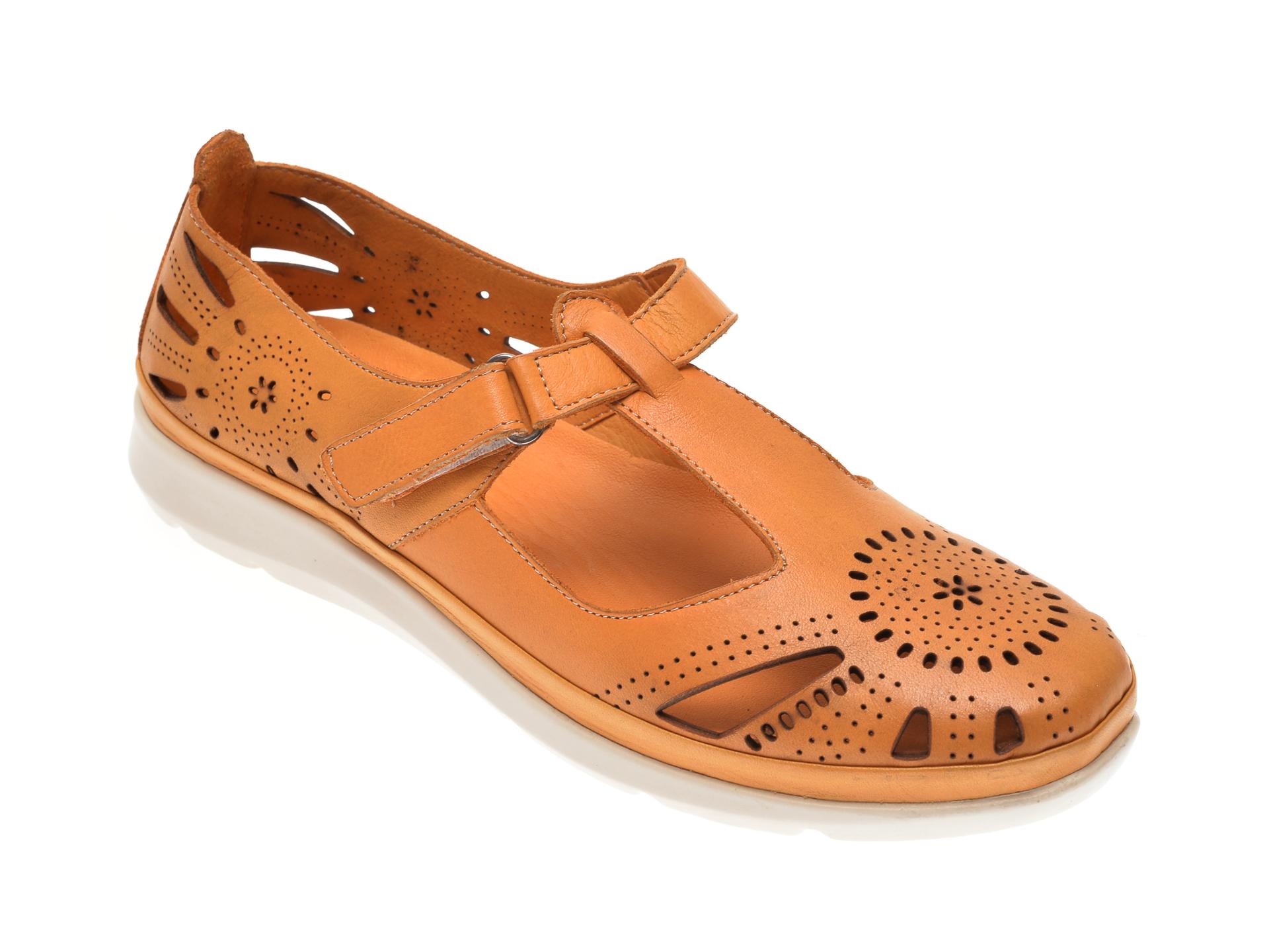 Pantofi X TREND galbeni, 602, din piele naturala