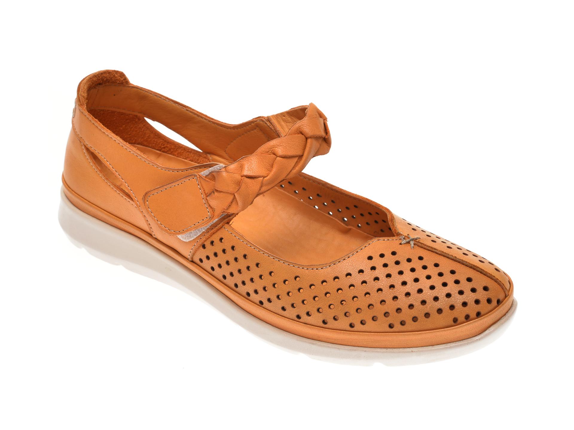 Pantofi X TREND galbeni, 608, din piele naturala