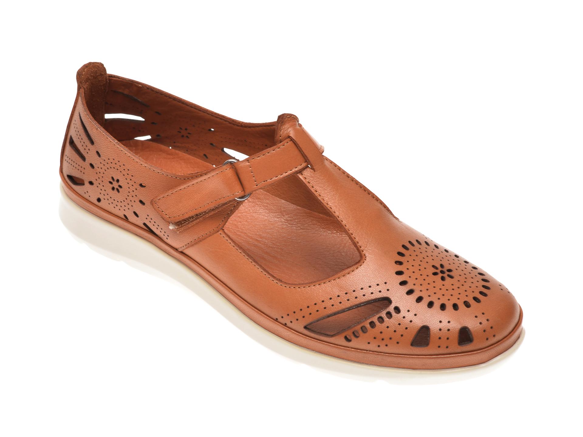 Pantofi X TREND maro, 602, din piele naturala
