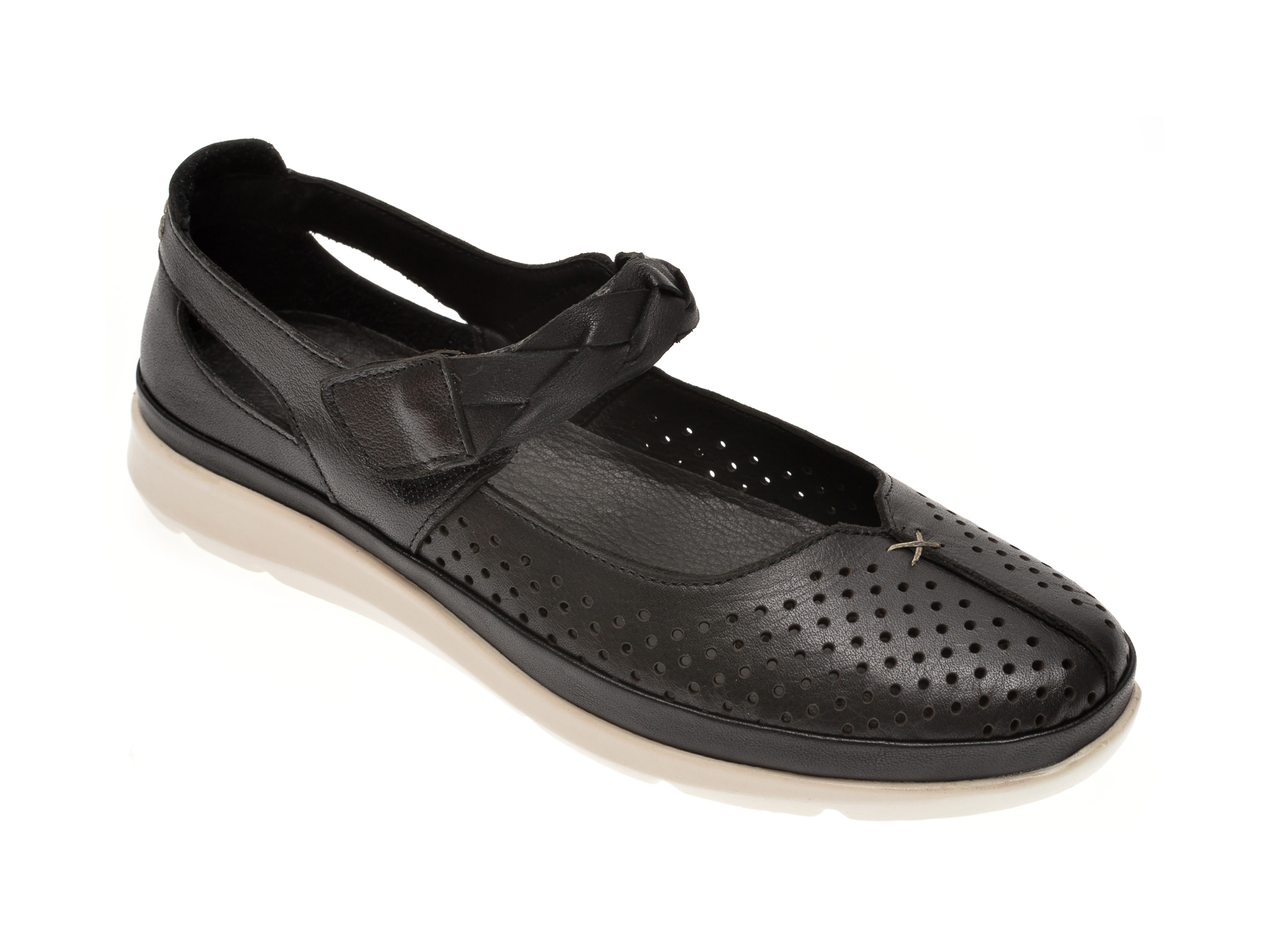 Pantofi X TREND negri, 608, din piele naturala
