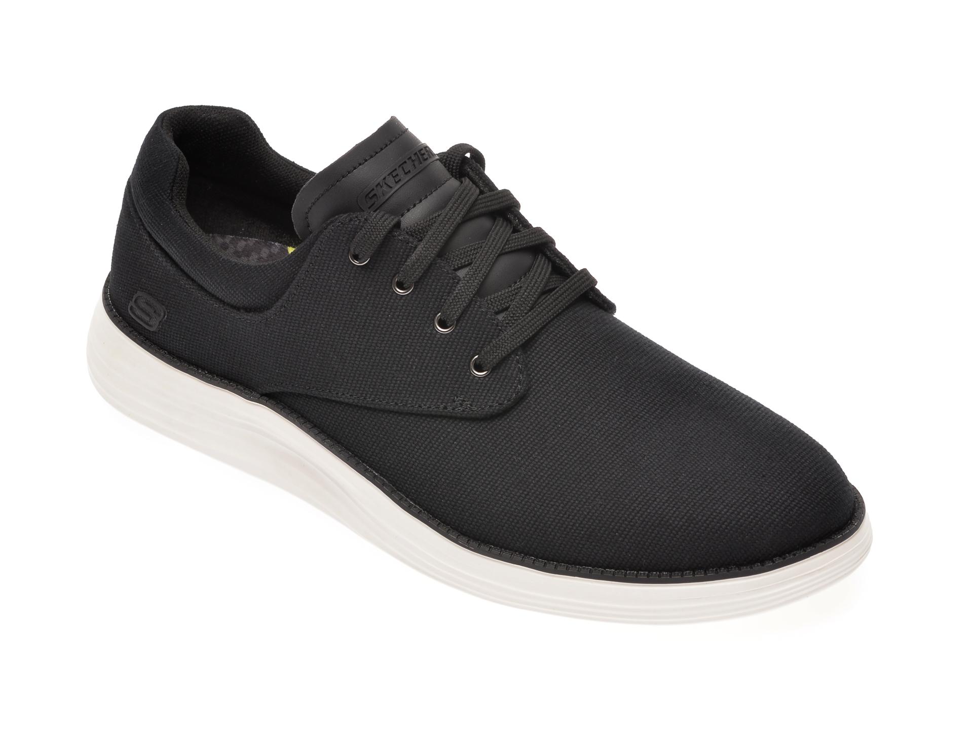 Pantofisport SKECHERS negri, Status 2.0 Burbank, din material textil imagine