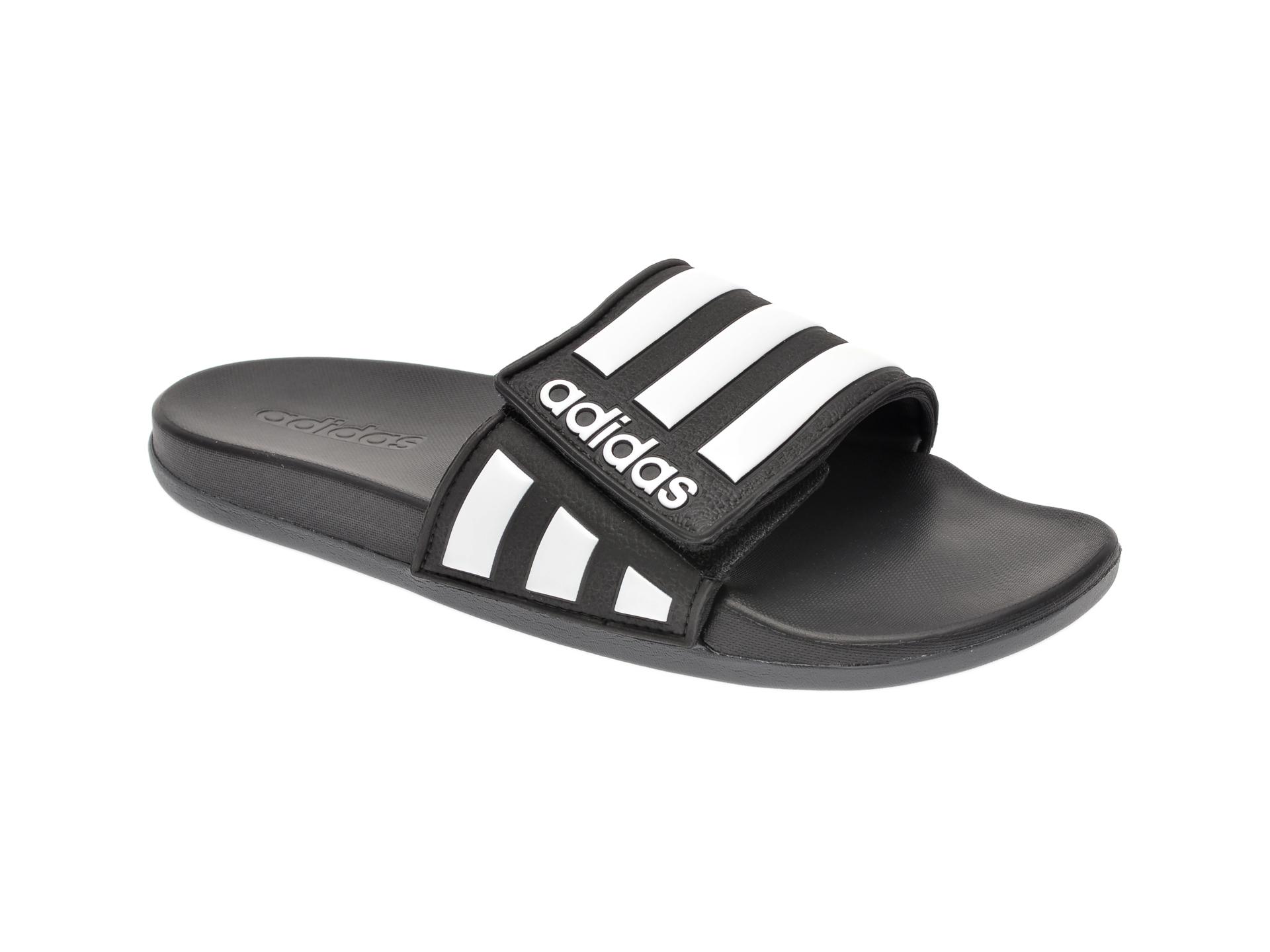 Papuci Adidas Negri, Adilette Comfort Ad, Din Piele Ecologica