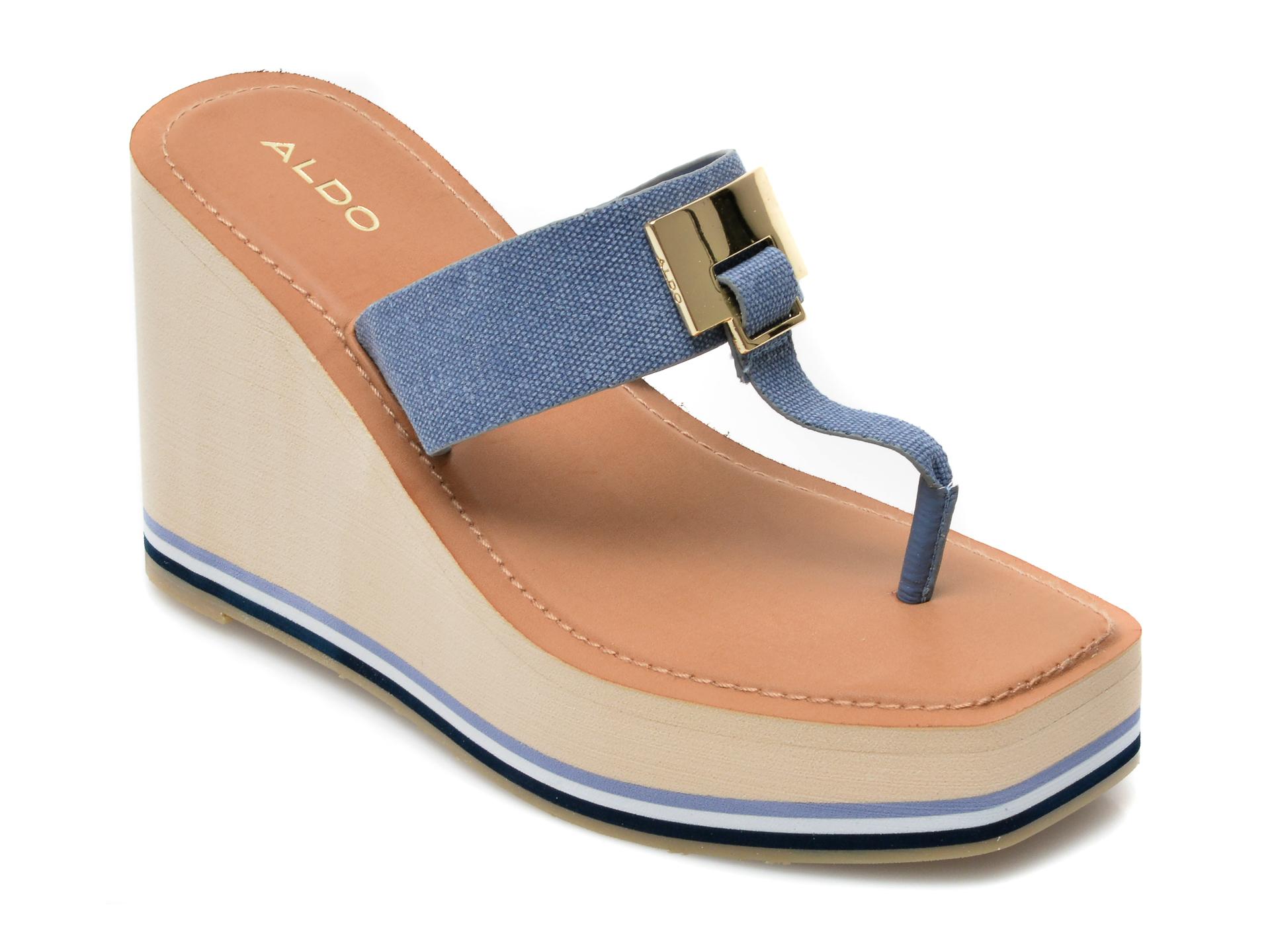 Papuci ALDO albastri, Acarenia400, din material textil imagine otter.ro 2021