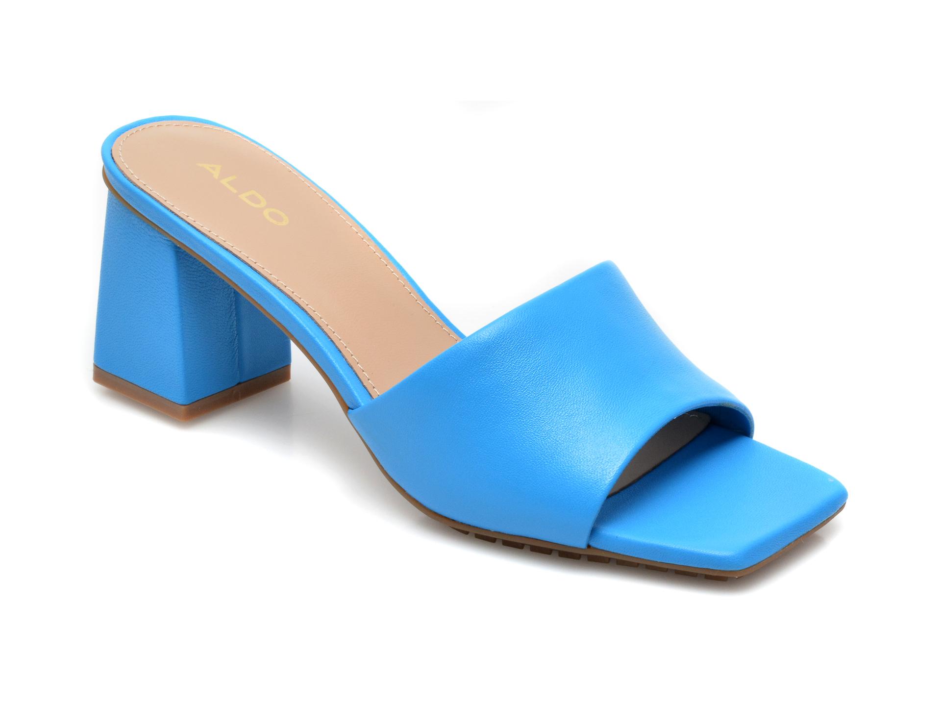 Papuci ALDO albastri, Velalith400, din piele naturala imagine otter.ro 2021
